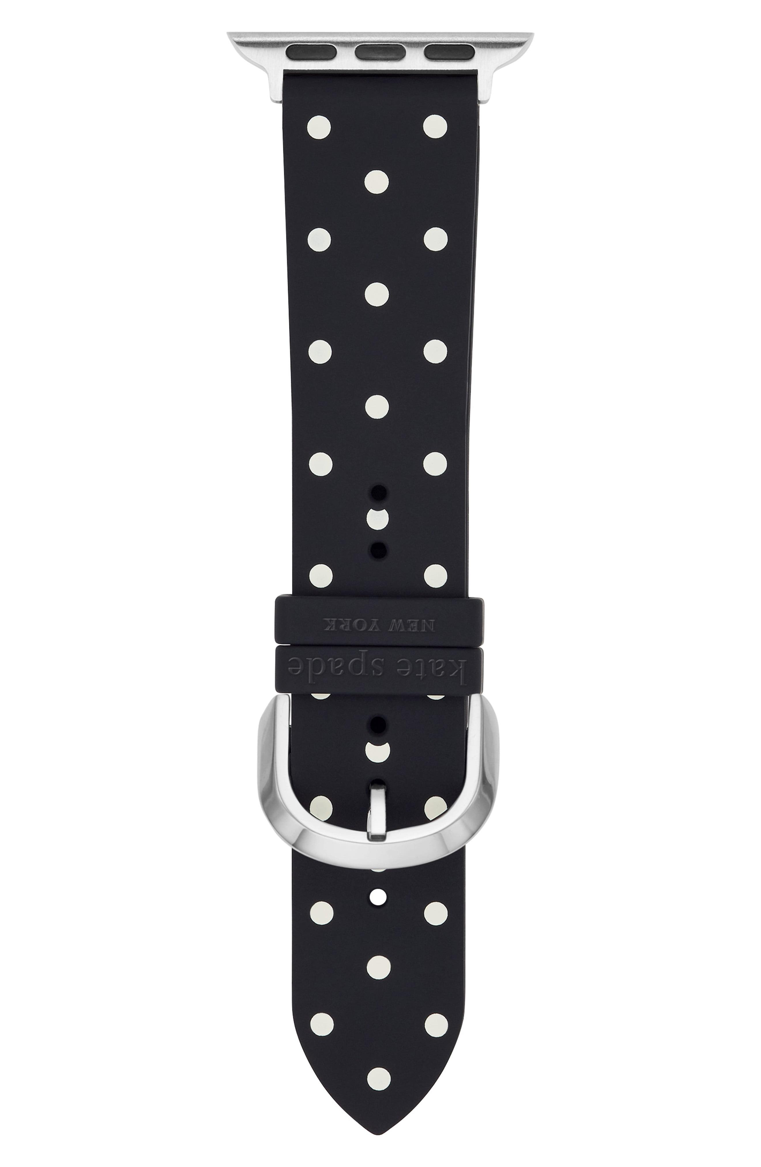 Kate Spade Black Dot Leather Band For Apple Watch Save 56 Lyst