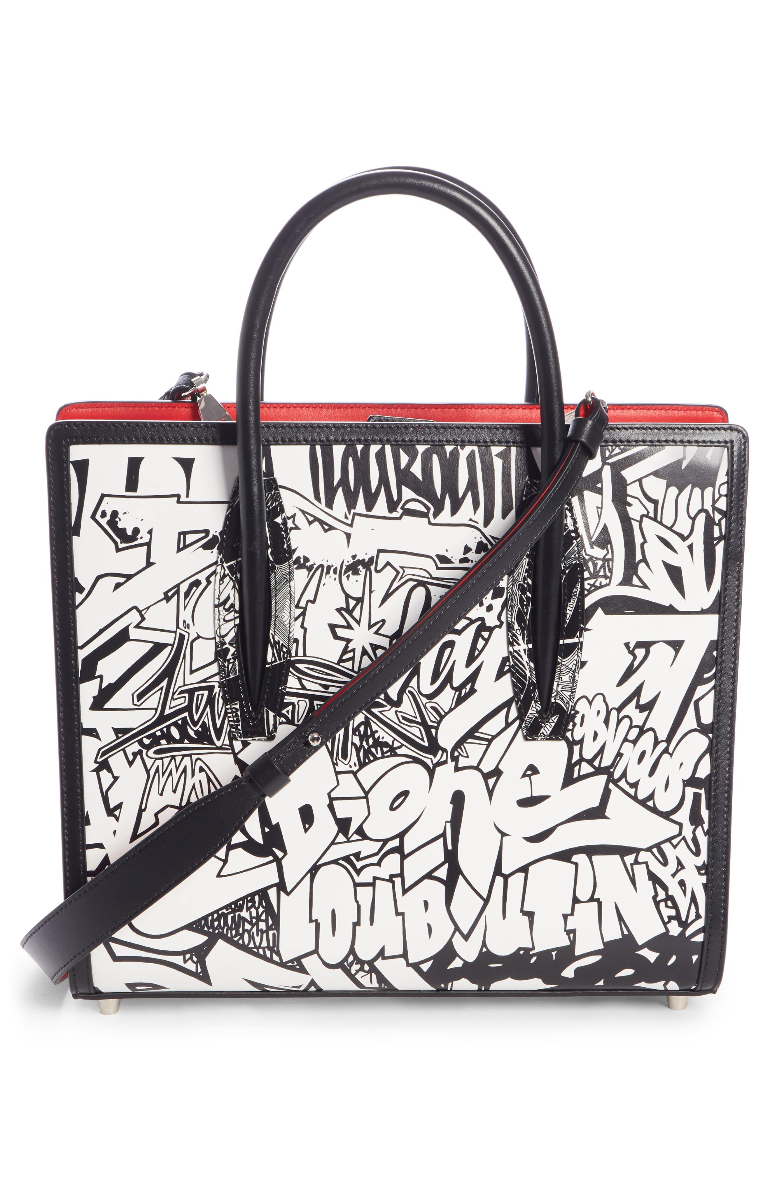b199a4e0c21 Christian Louboutin Black Medium Paloma Paris Leather Tote -