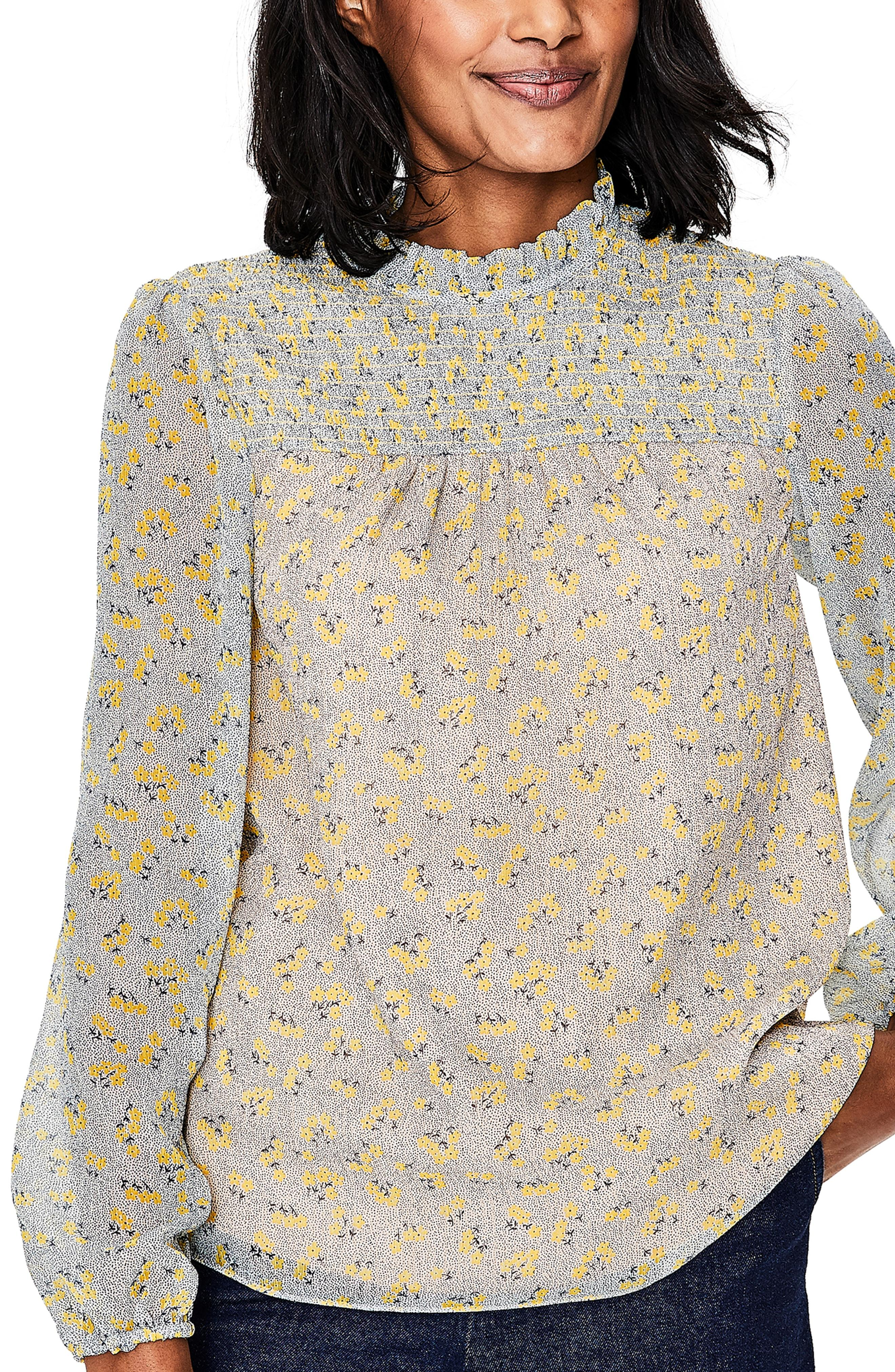 184a81f01070a Lyst - Boden Janie Floral Top in White