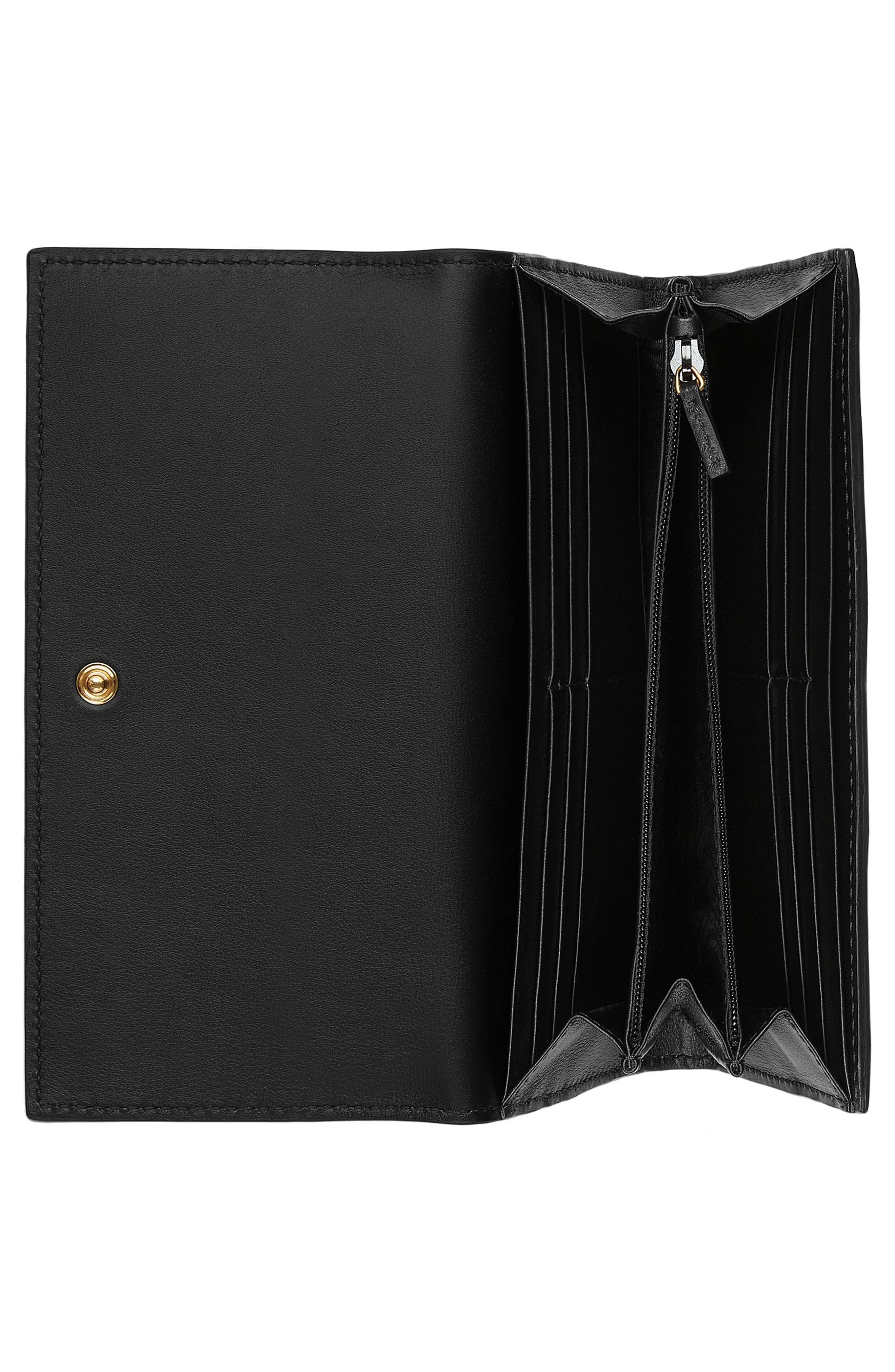 d5d98e839707 Gucci - Natural Linea Bee Gg Supreme Continental Wallet - Lyst. View  fullscreen