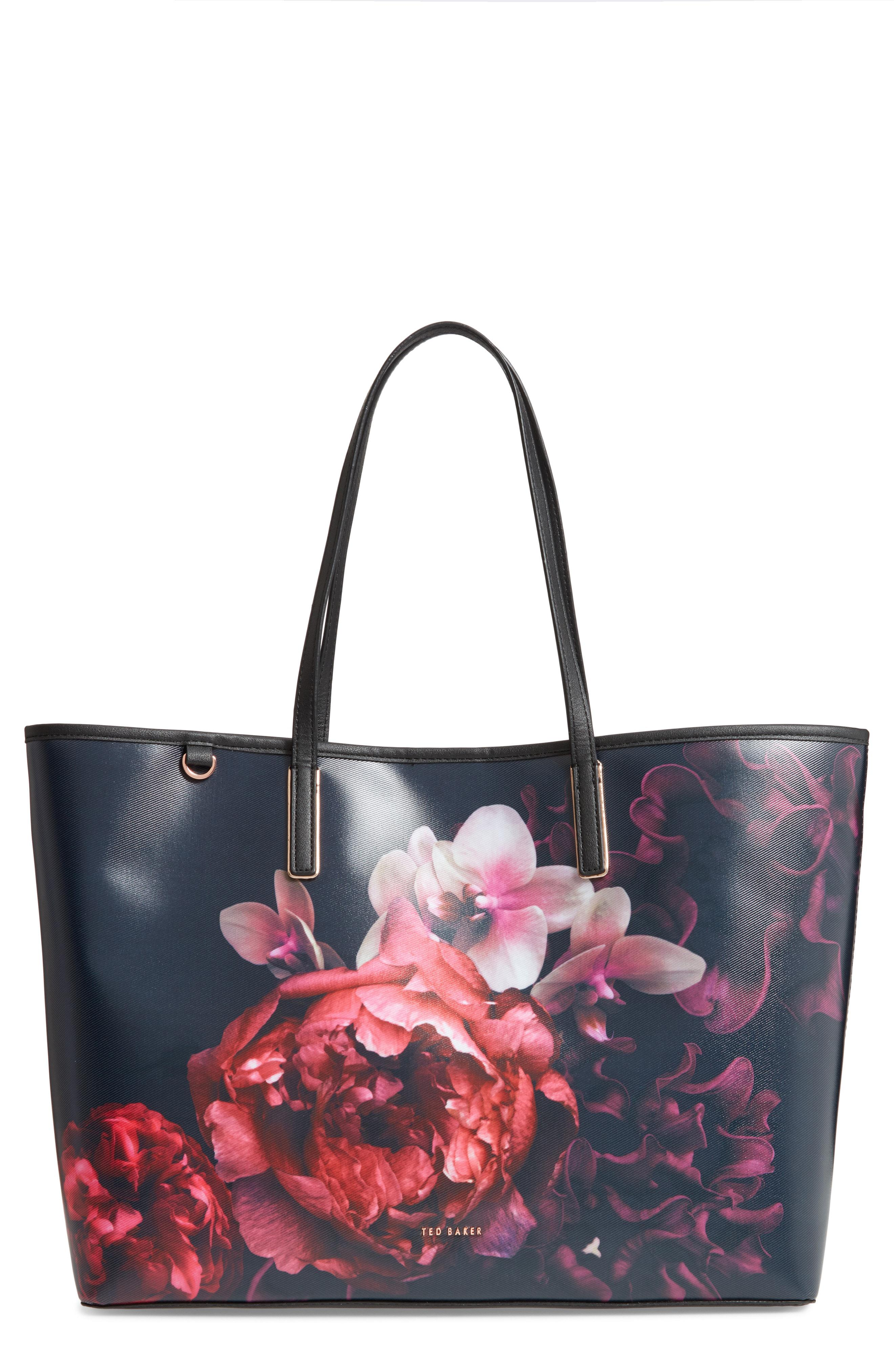TED BAKER Splendour Floral Printed Large Icon Shopper Tote Bag
