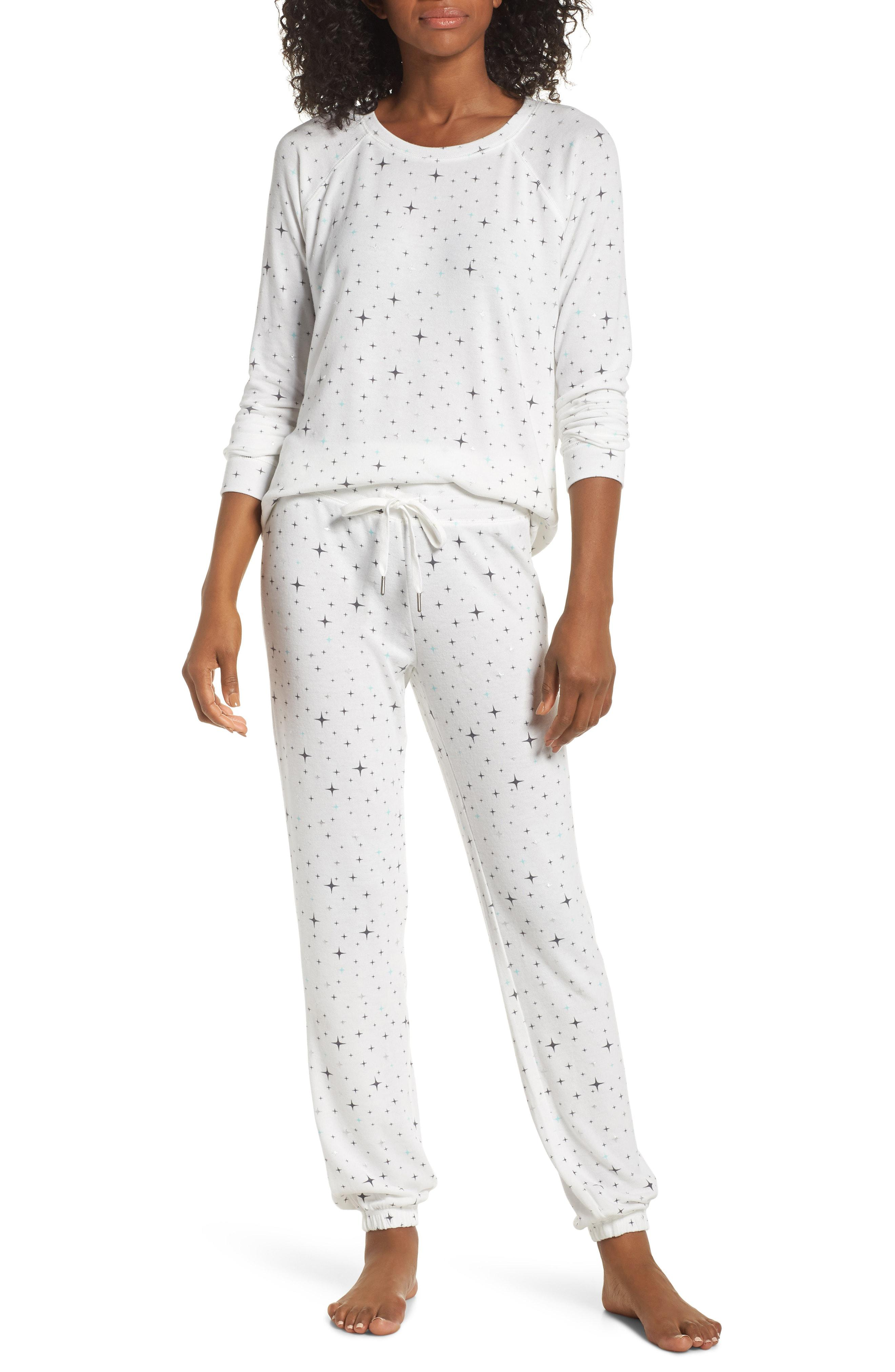 PJ Salvage Womens Pajama Top Size Medium Multicolor Racerback Striped Sleepwear
