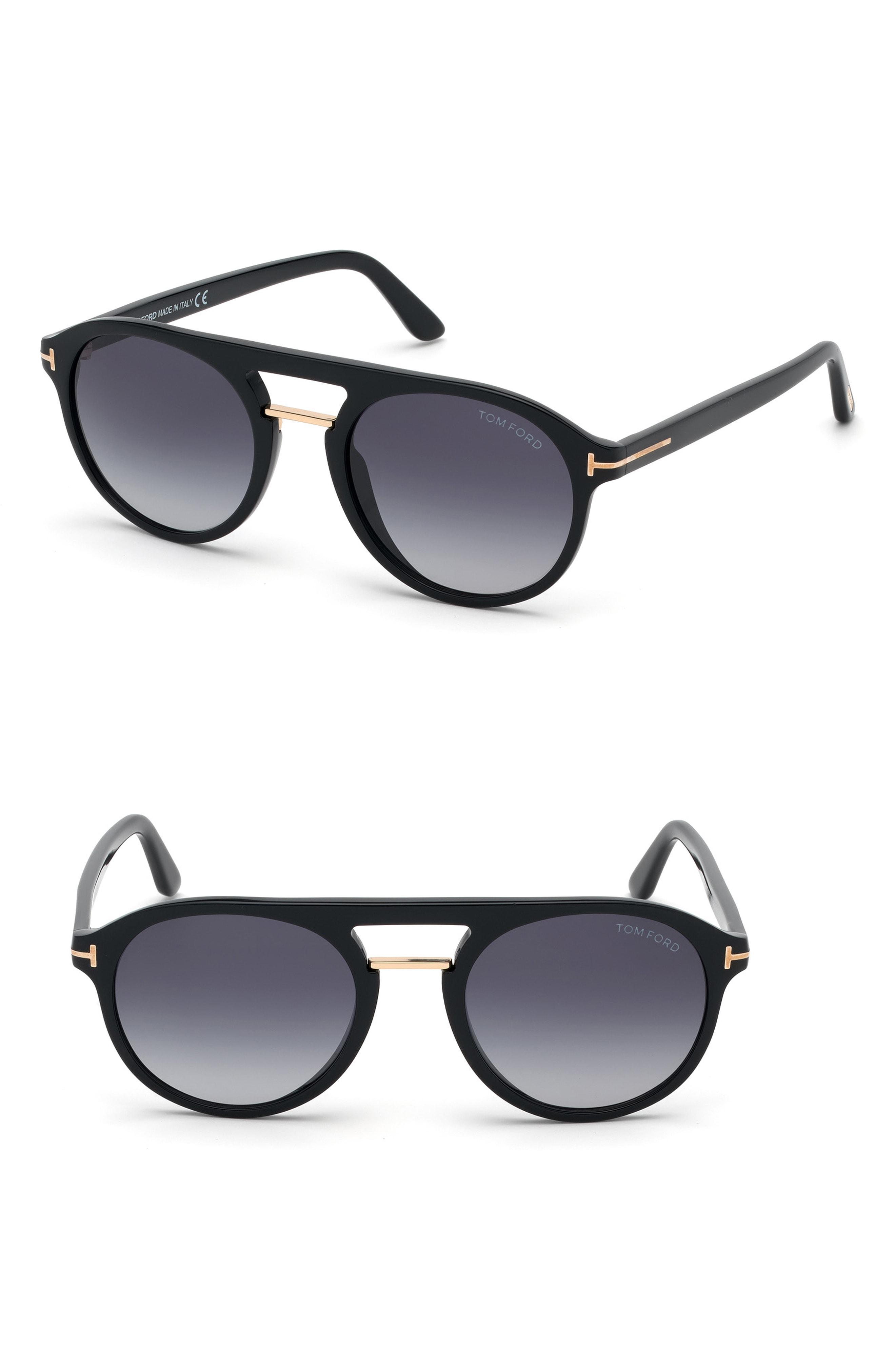 5d72a016f94 Lyst - Tom Ford Ivan 54mm Polarized Aviator Sunglasses - in Metallic ...