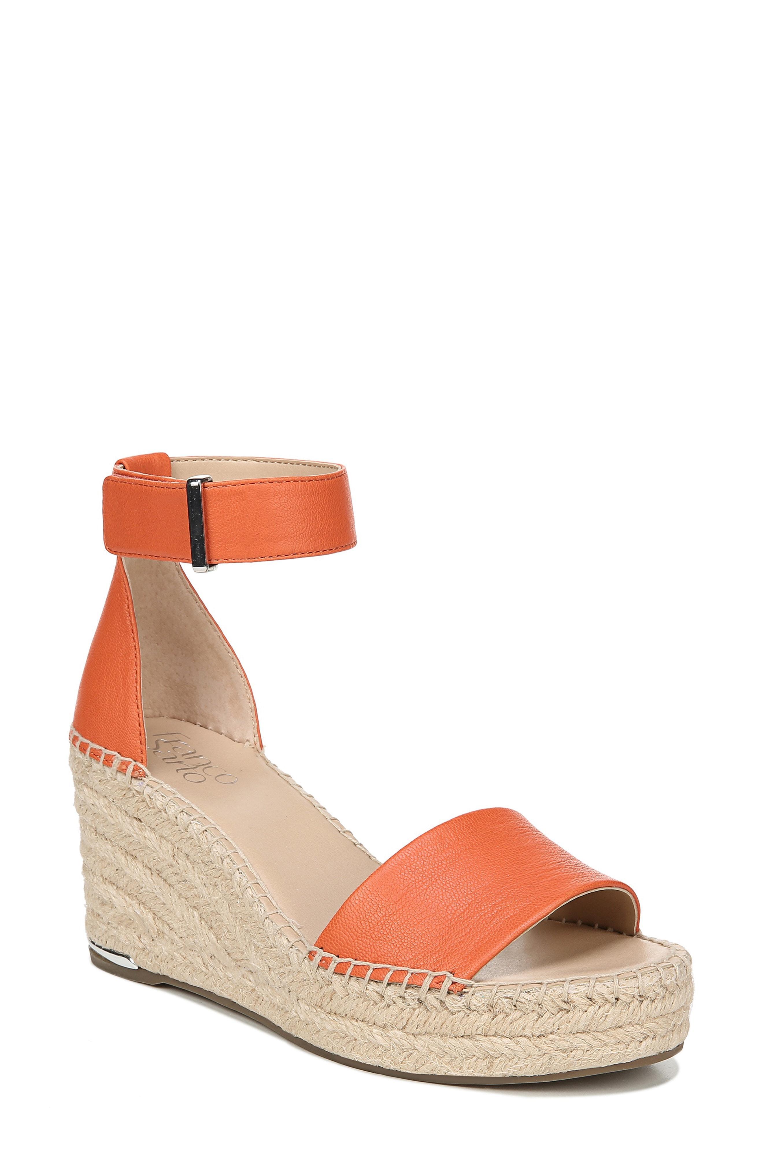 6e22526291d Lyst - Franco Sarto Clemens Espadrille Wedge Sandal in Orange - Save 1%