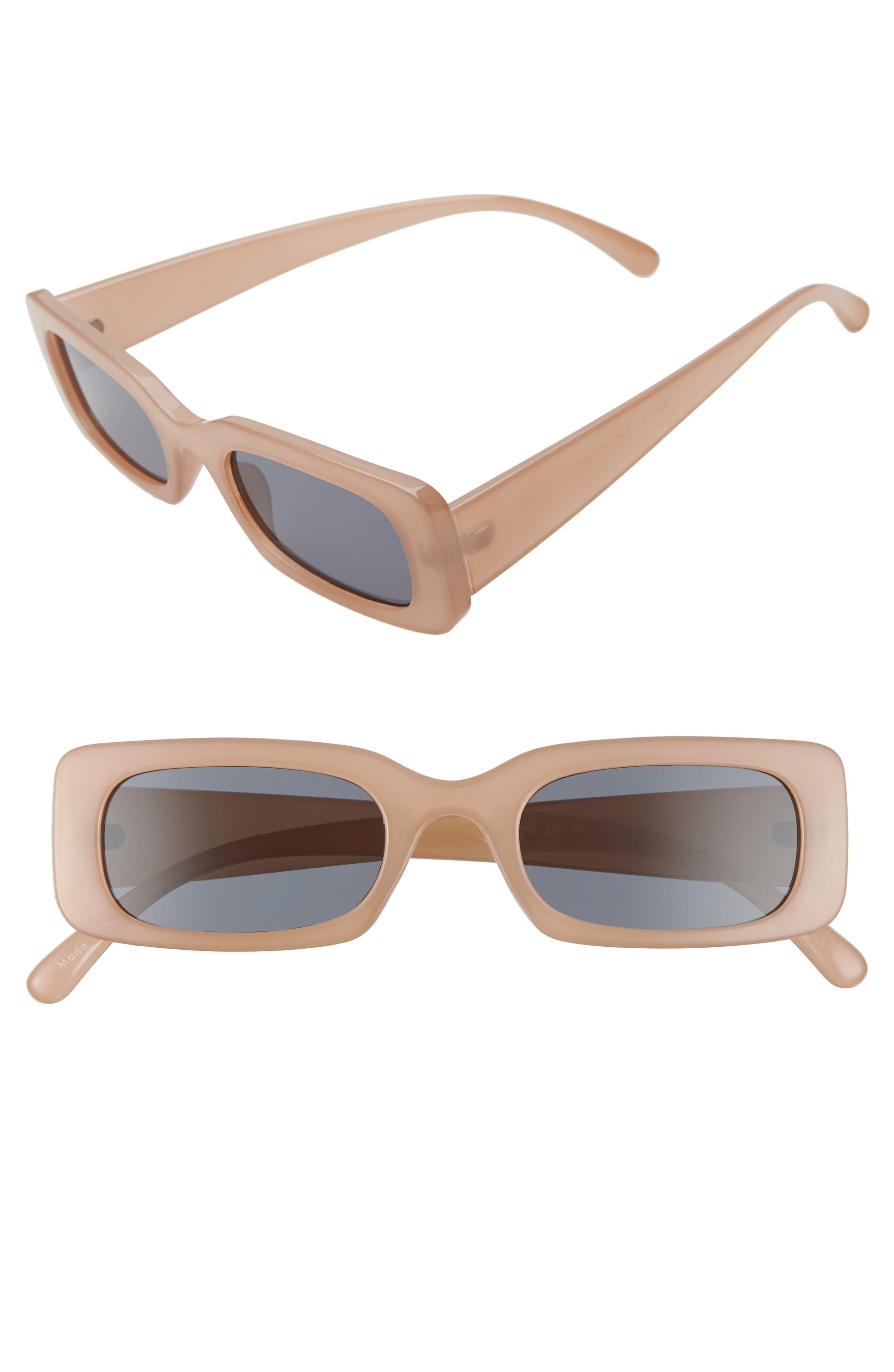 BP. 49mm Rounded Rectangular Sunglasses - Nude - Lyst