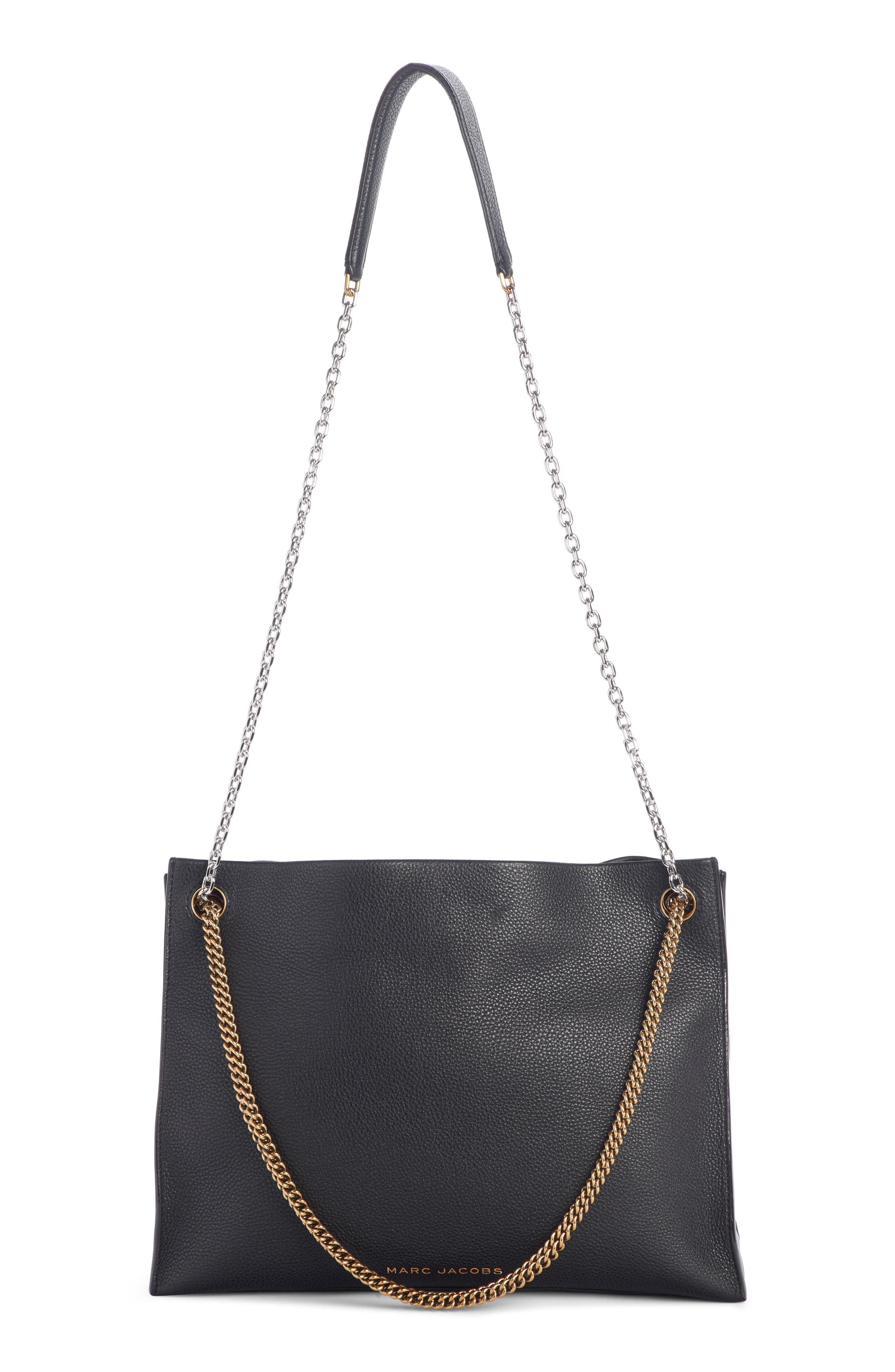 c8ae3ca6859f ... Black Double Link 34 Leather Shoulder Bag - - Lyst. View fullscreen