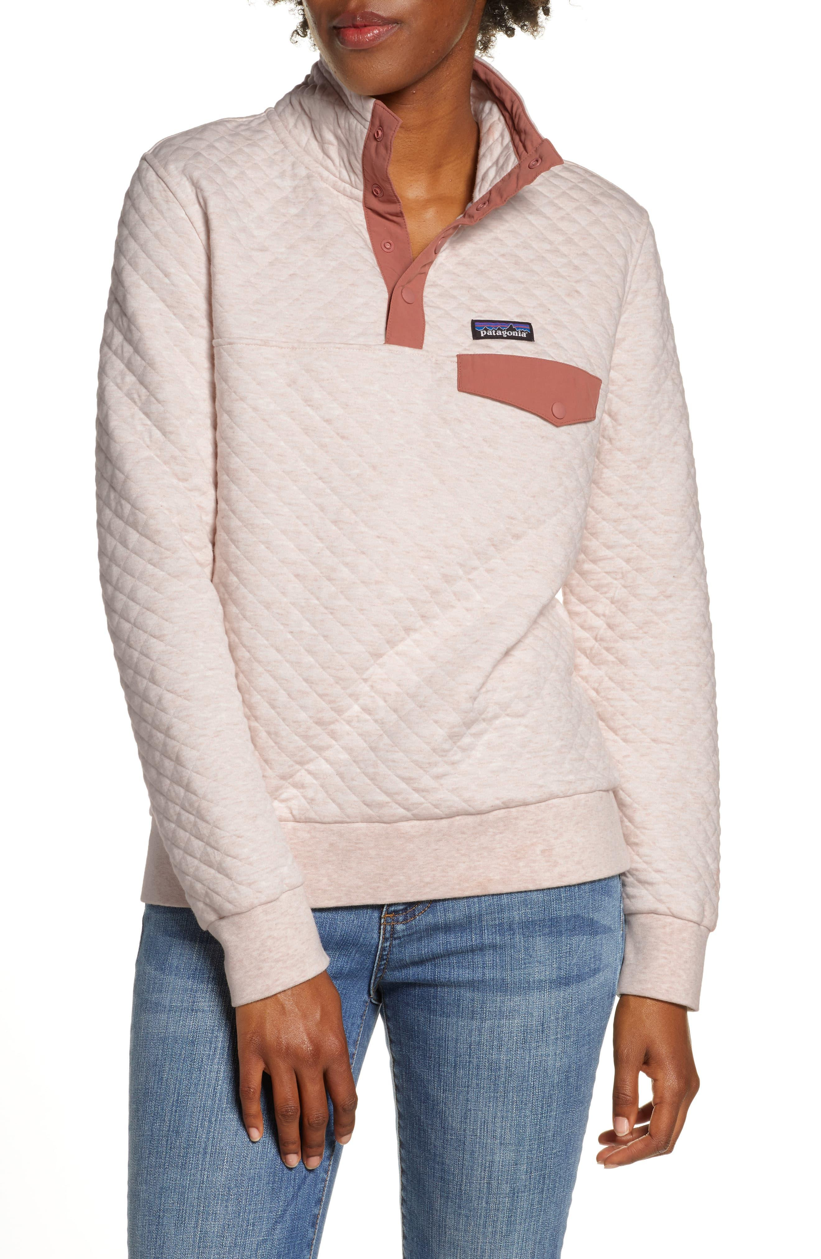 Patagonia Fleece Snap T Quilted Pullover In White Lyst