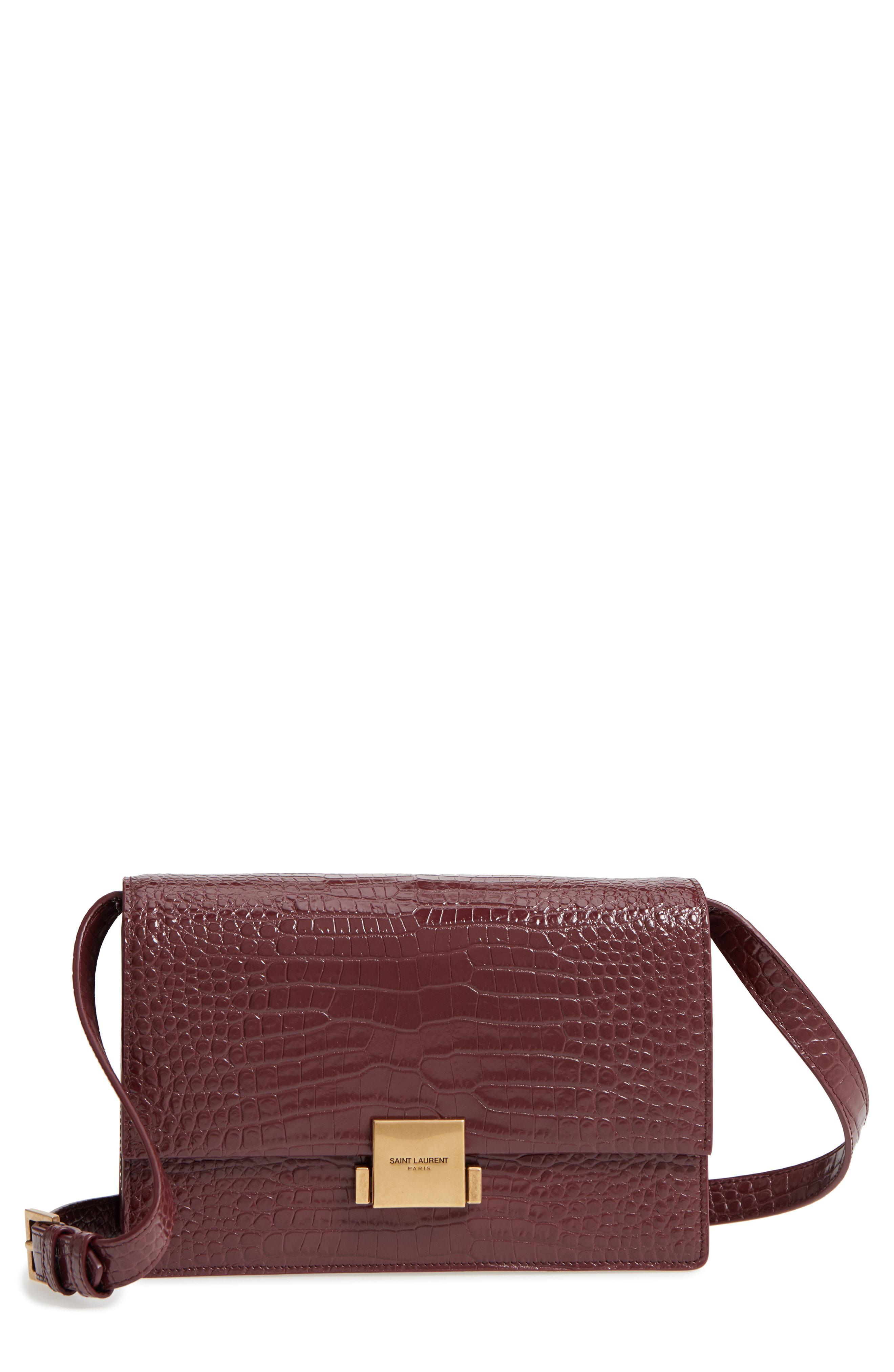7e60b1dcb5 Saint Laurent Multicolor Medium Bellechasse Croc Embossed Leather Shoulder  Bag -
