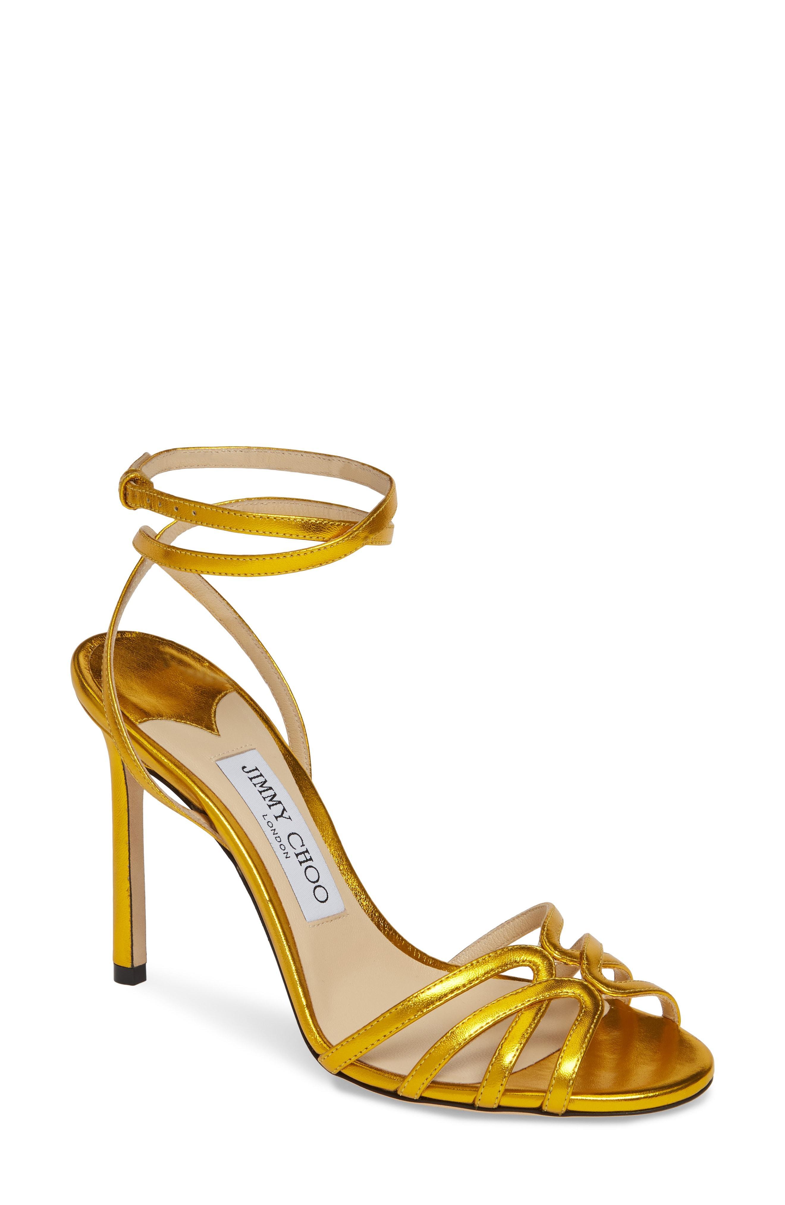 6bc89073e9e Lyst - Jimmy Choo Mimi Ankle Strap Sandal in Metallic