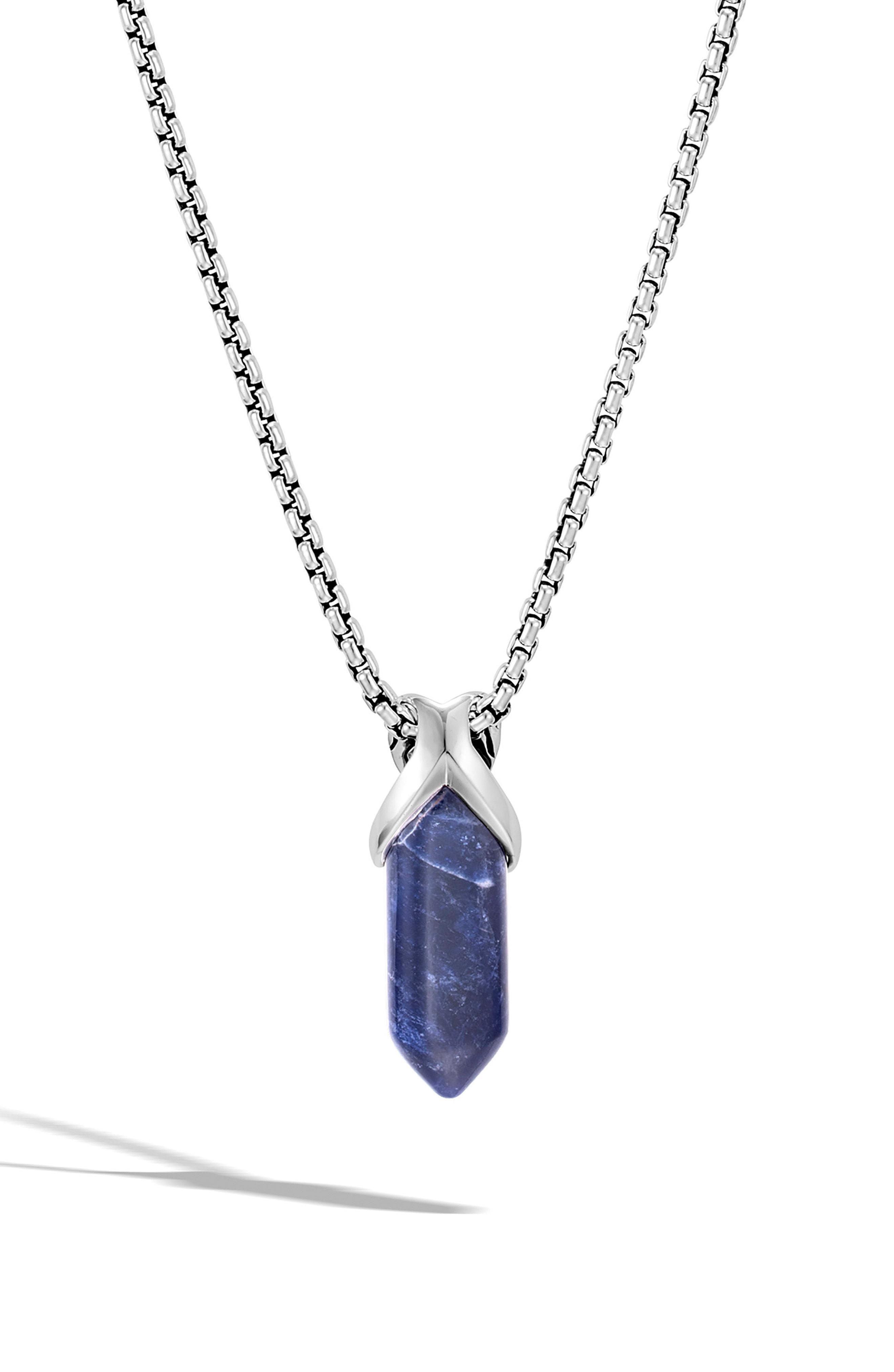 b4ea147d400b8b John Hardy. Metallic Men's Asli Classic Chain Reversible Pendant Necklace