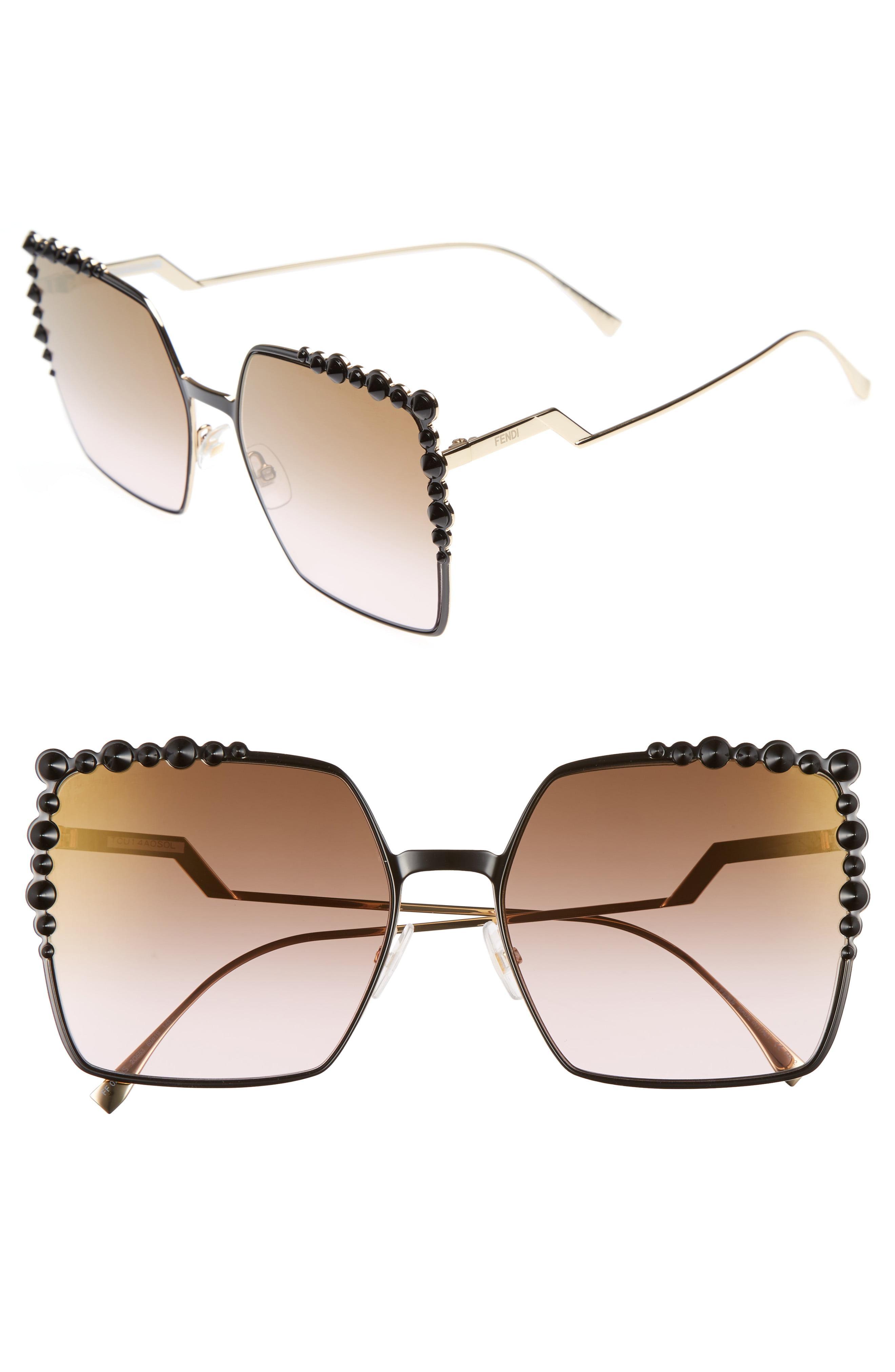 45b0c3b07703 Fendi - Brown 60mm Gradient Square Cat Eye Sunglasses - - Lyst. View  fullscreen