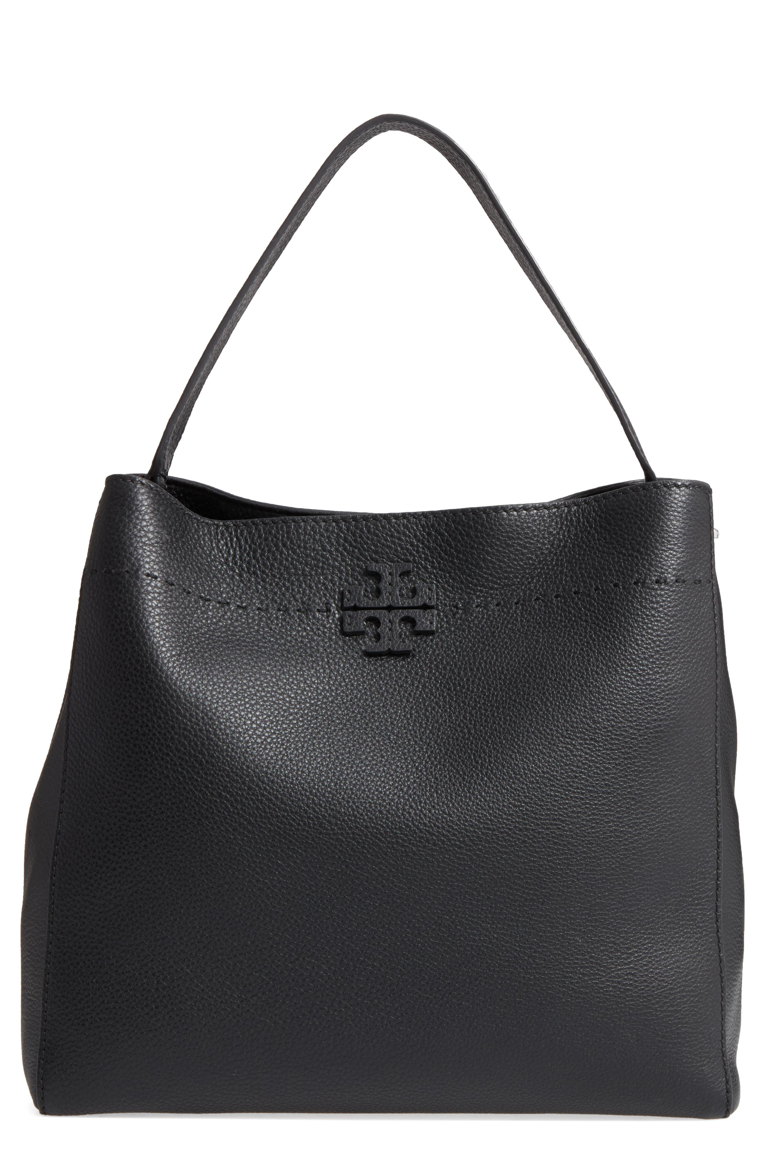 01051036a1347 Lyst - Tory Burch Mcgraw Leather Hobo in Black