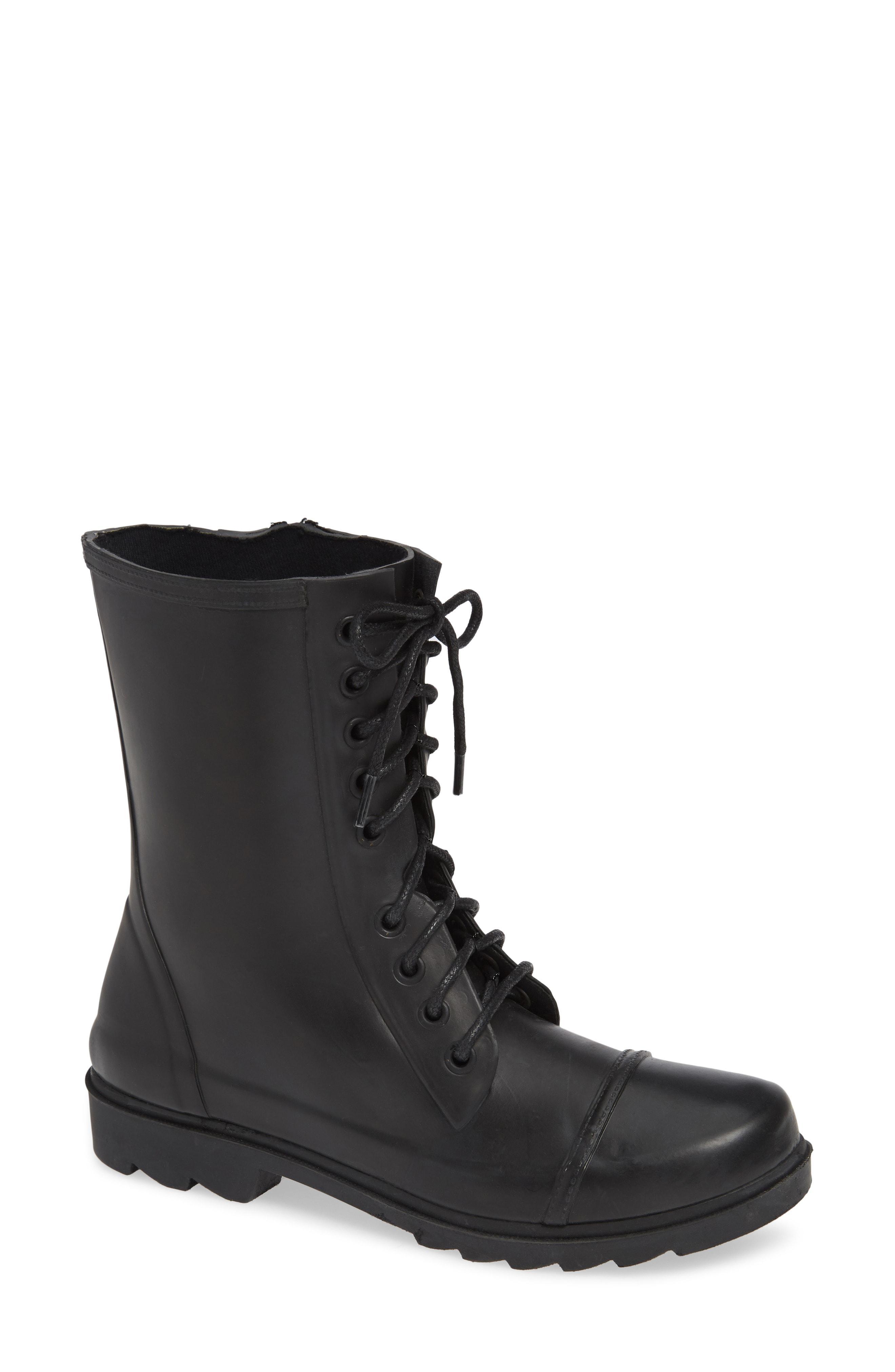 556f6bc0d04 Steve Madden Black Troopa Waterproof Rain Boot
