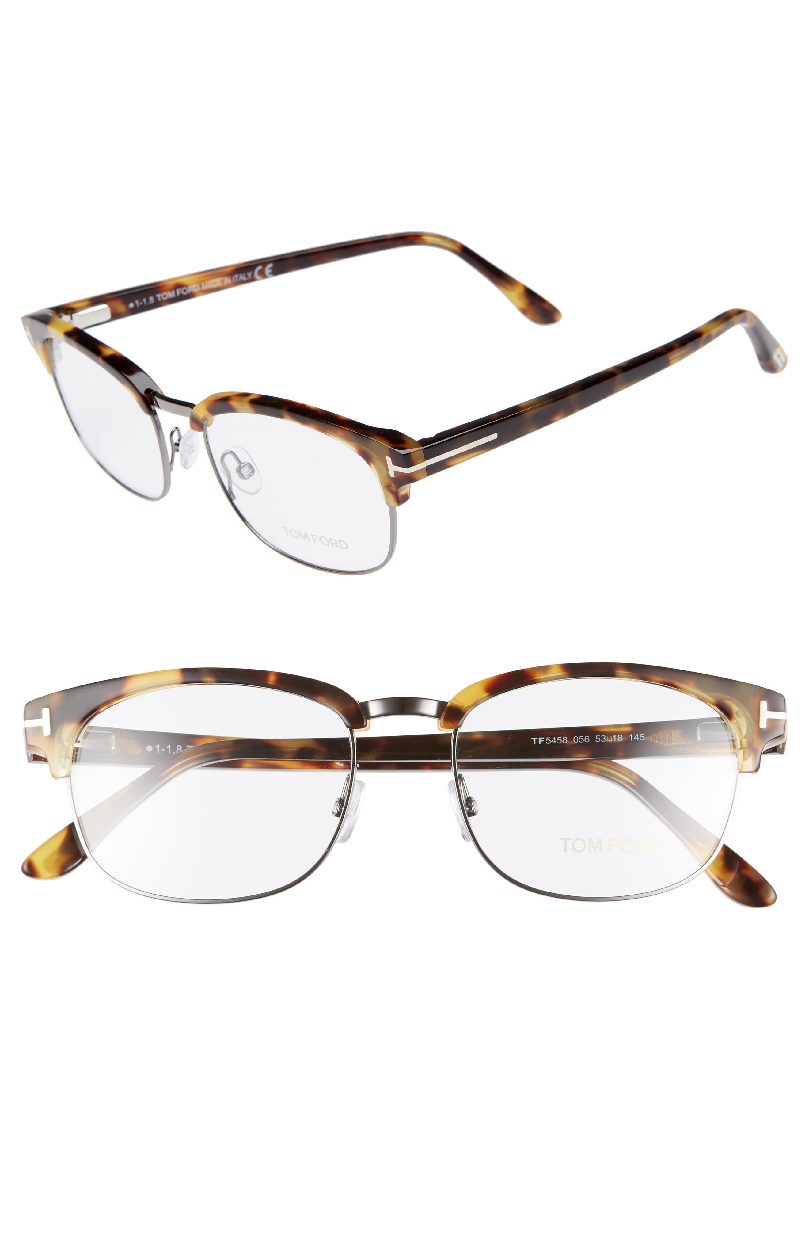 a1430ccccd9 Tom Ford - Multicolor 53mm Optical Glasses - Shiny Tortoise - Lyst. View  fullscreen