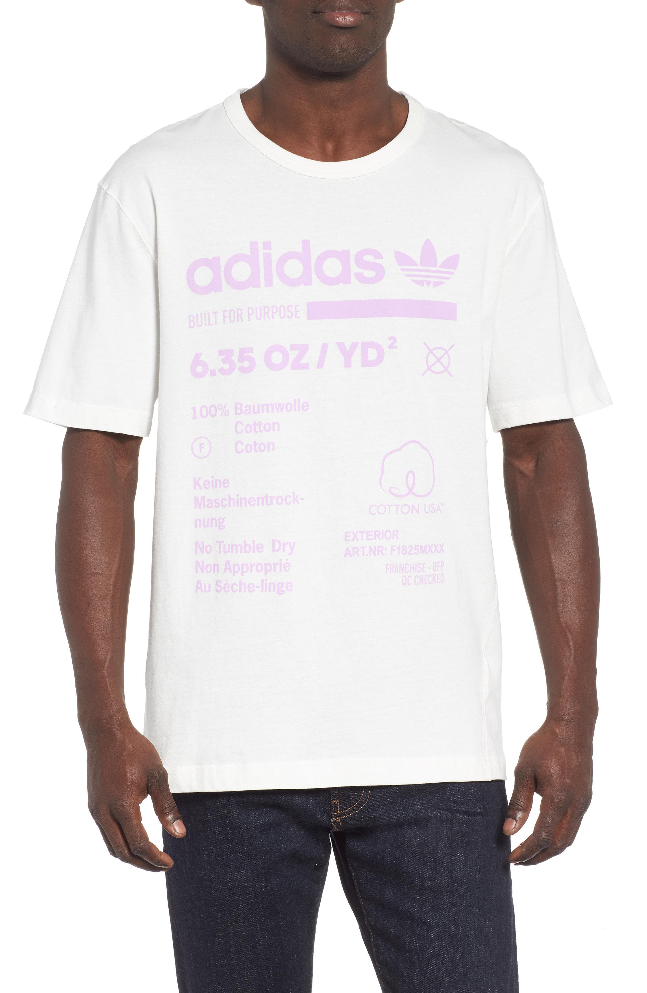 8e59d94bb70 Adidas Originals - White Kaval Graphic T-shirt for Men - Lyst. View  fullscreen