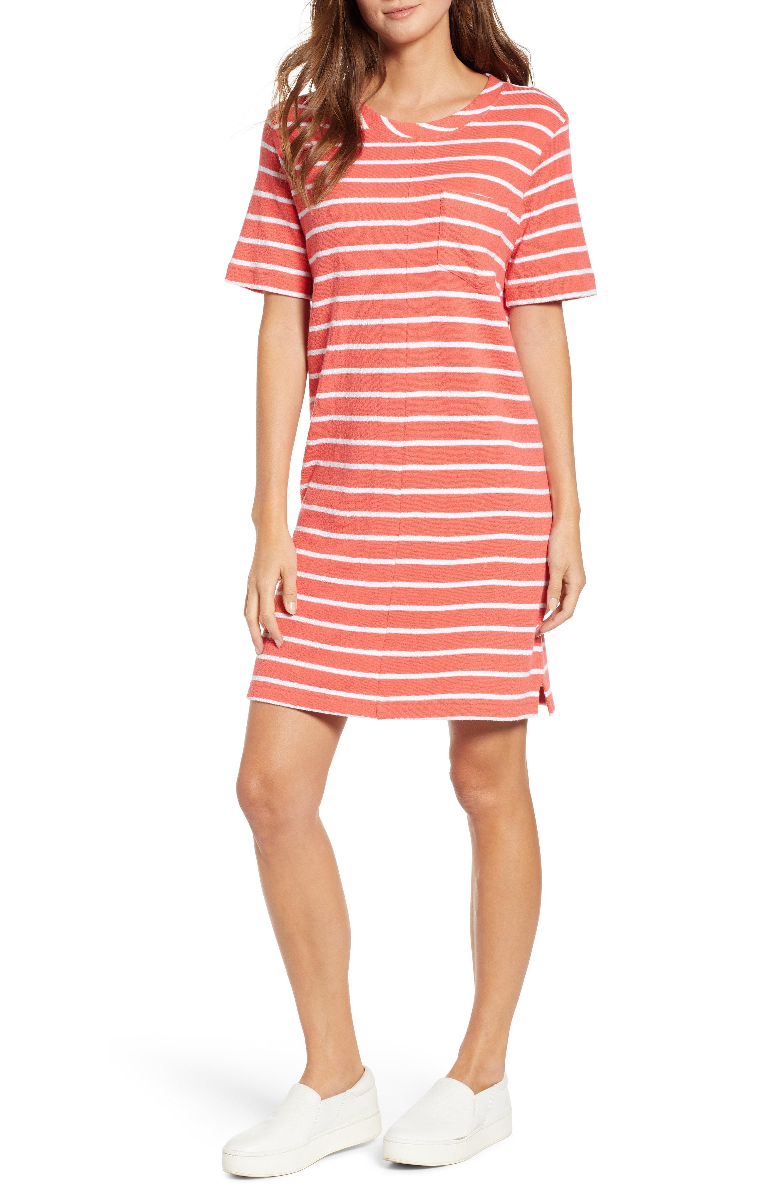 bcf41752e63 Lyst - Caslon Caslon T-shirt Dress in Red