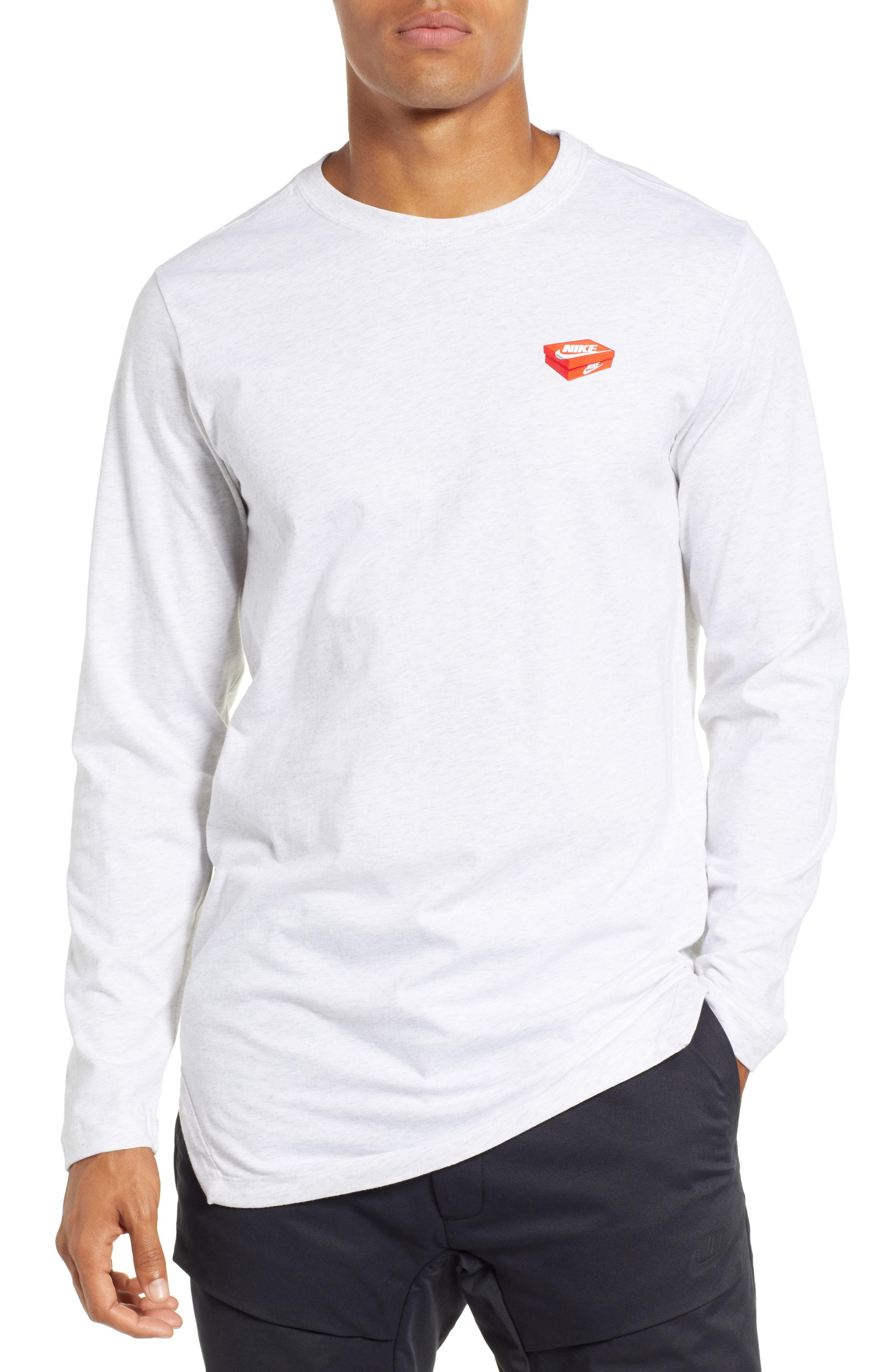 281bc54b9 Nike Nsw Shoe Box Graphic Long Sleeve T-shirt in White for Men - Lyst