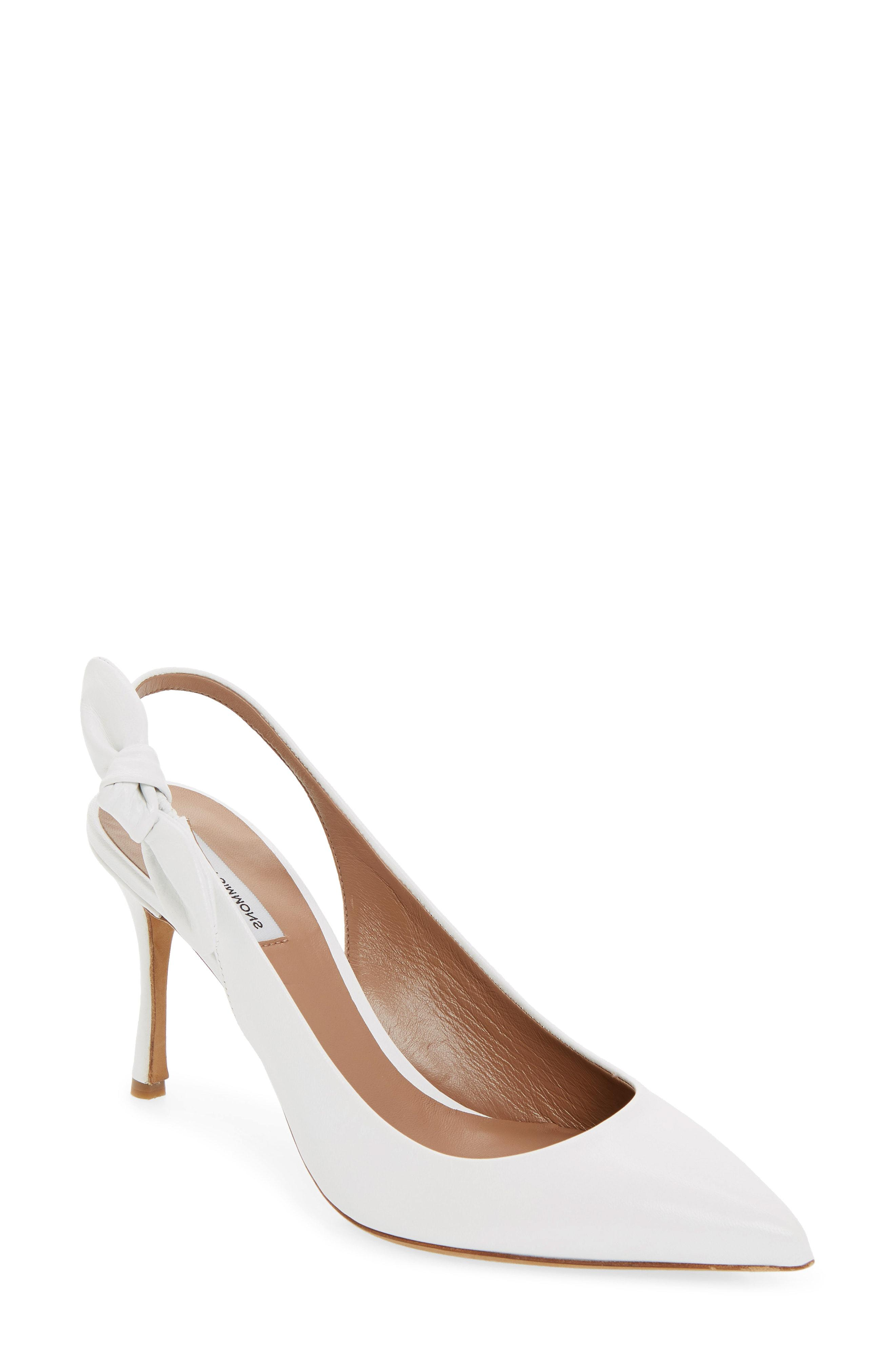 1b46c254c92 Lyst - Tabitha Simmons Millie Bow Slingback Pump in White