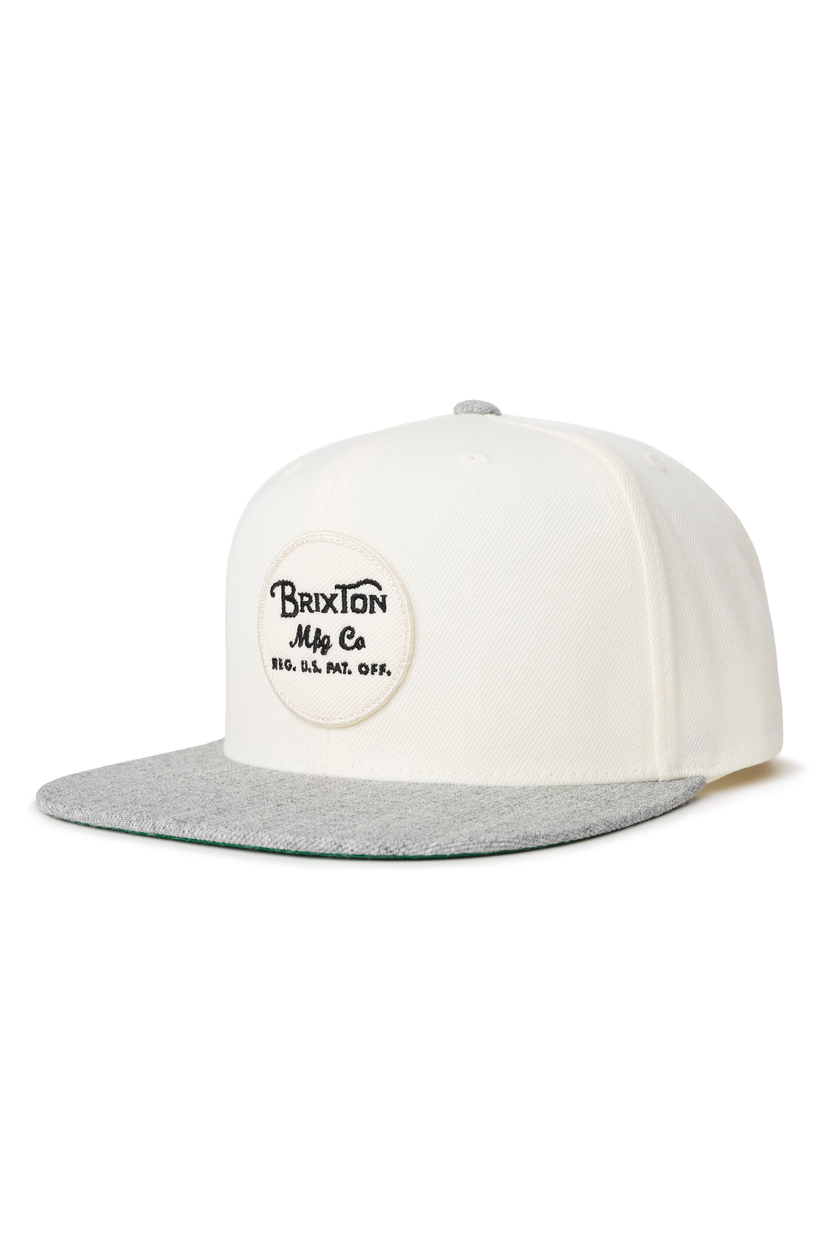 45620294194 Brixton 'wheeler' Snapback Cap in Gray for Men - Lyst
