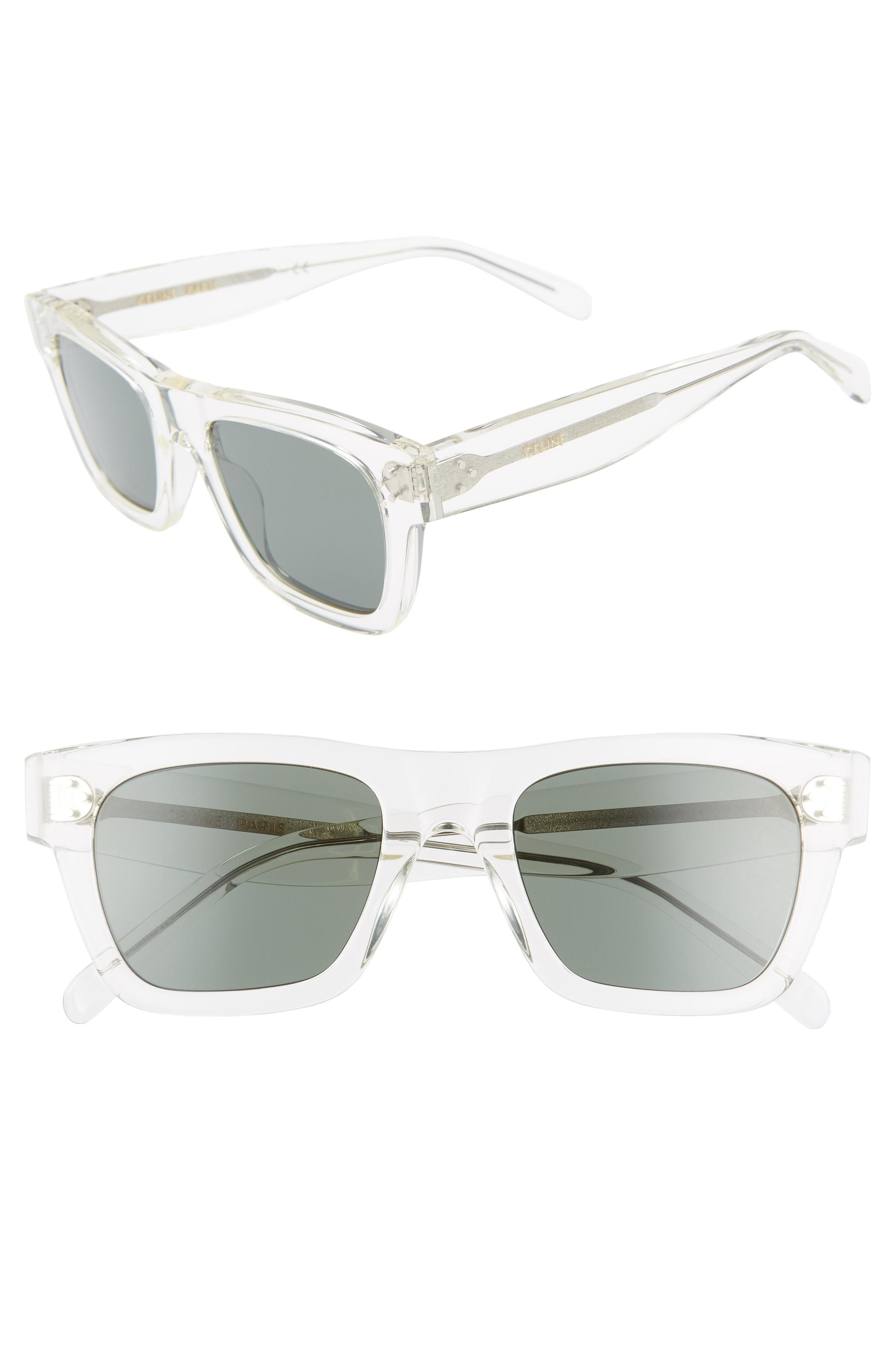 70ddcdfc075aa Céline 51mm Square Sunglasses - Crystal  Green in Green - Lyst