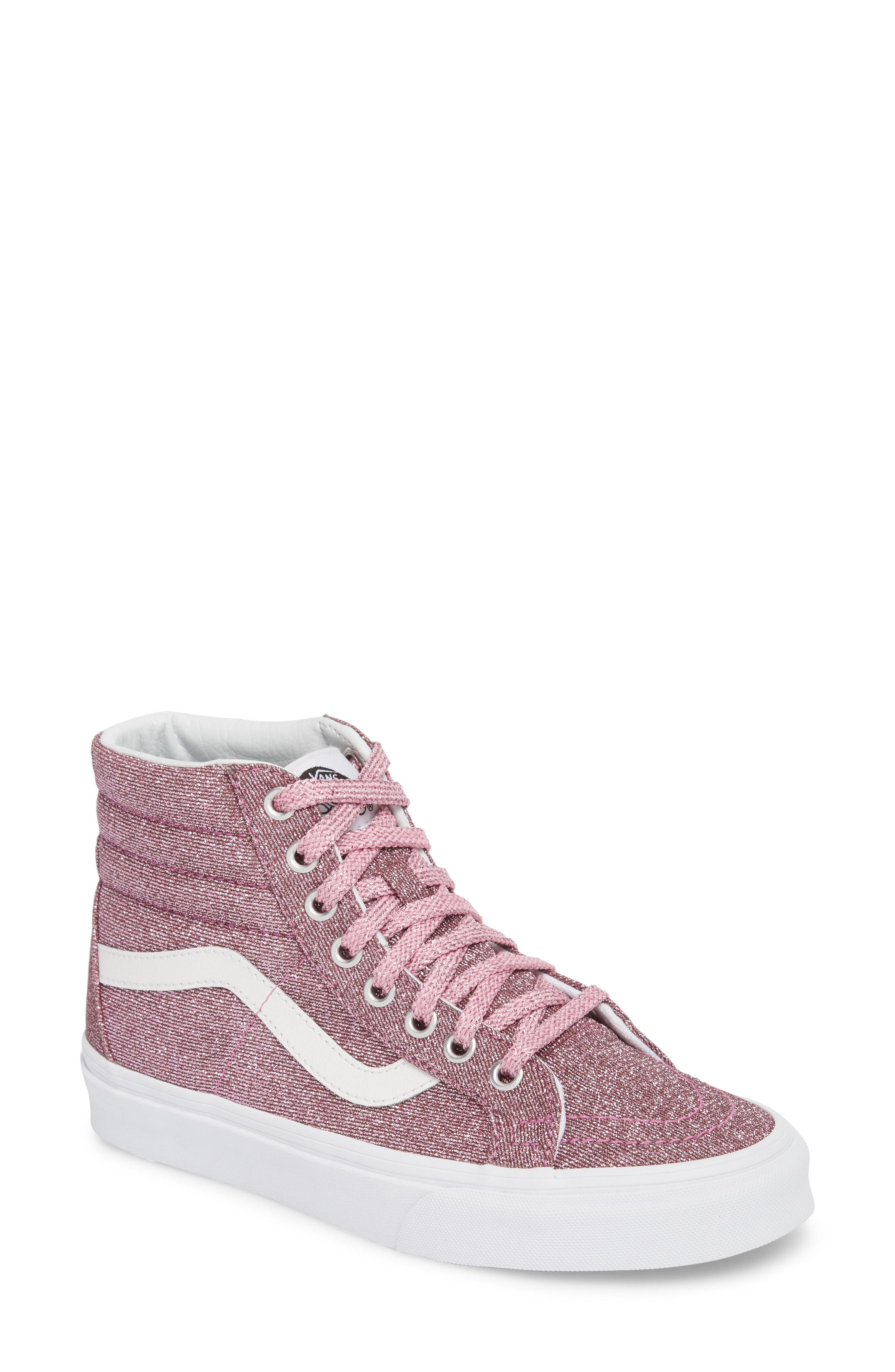 6edeacdaf5 Lyst - Vans Ua Sk8-hi Reissue Glitter Sneaker in Pink