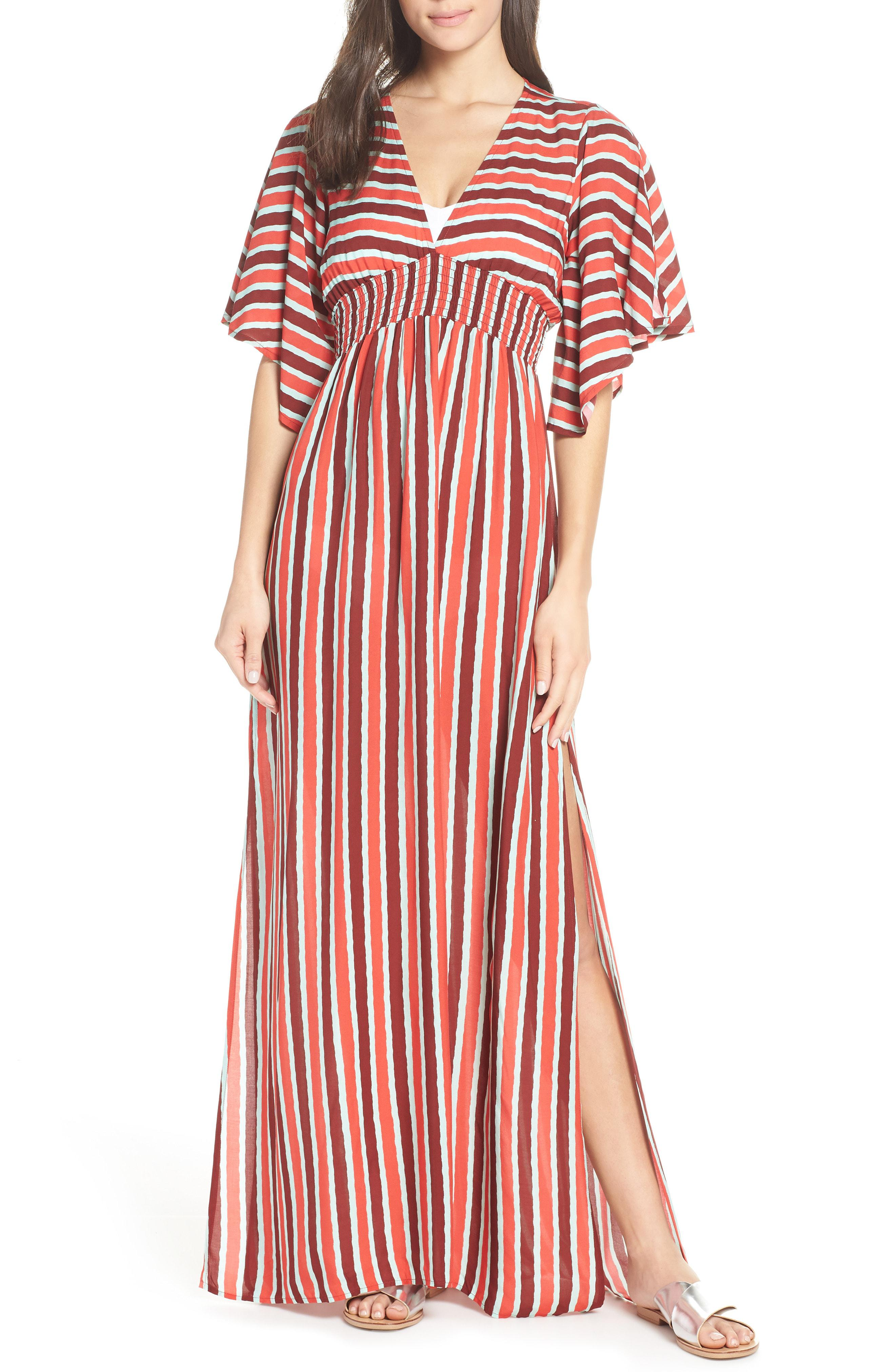 f93c560b4f4e9 Lyst - Maaji Morning Glam Cover-up Maxi Dress in Red
