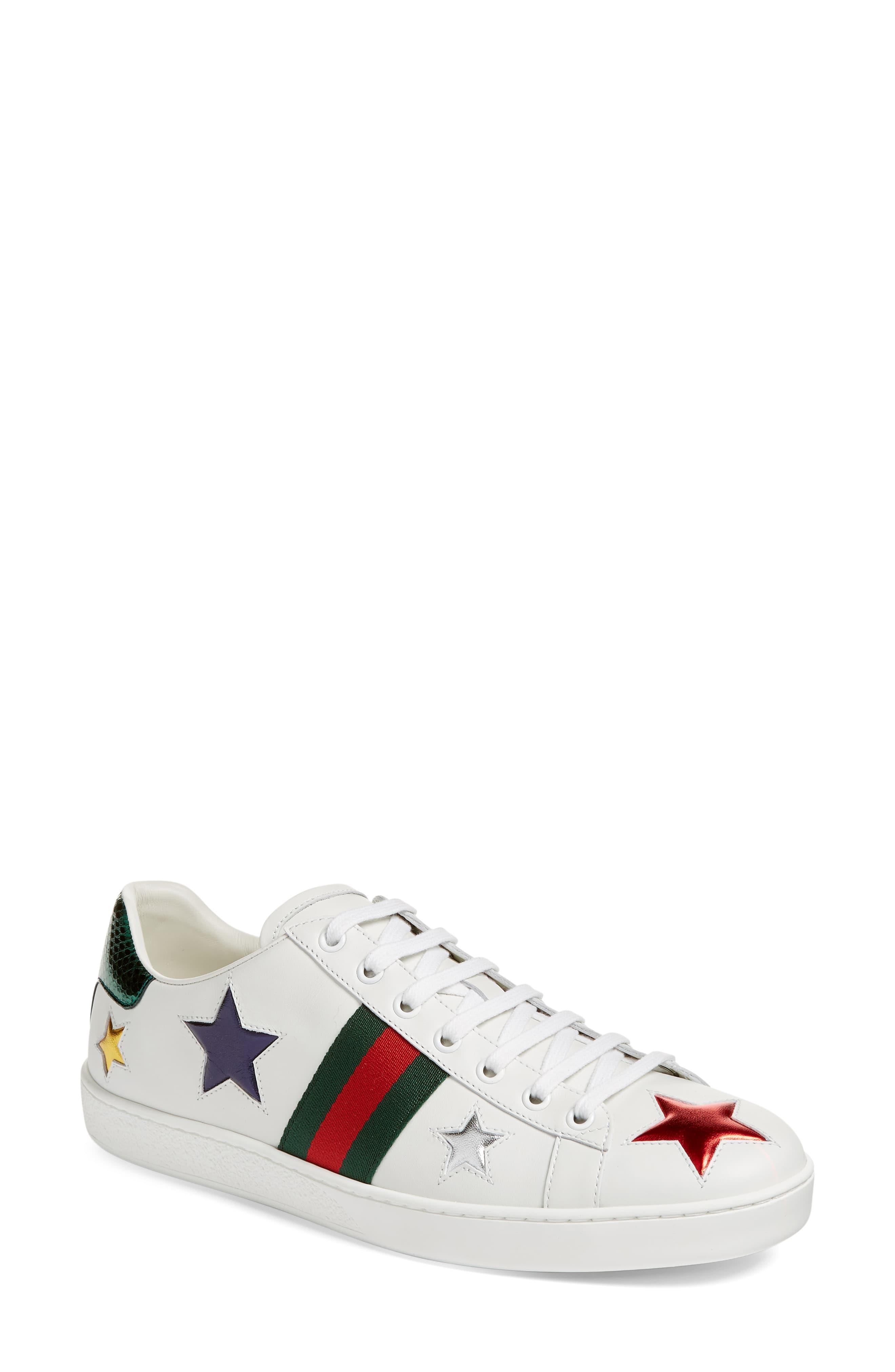 e78e87f4cb1 Gucci White New Ace Star Sneaker