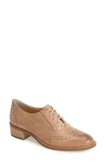 Paul Green Courtney Leather Oxford In Brown Lyst