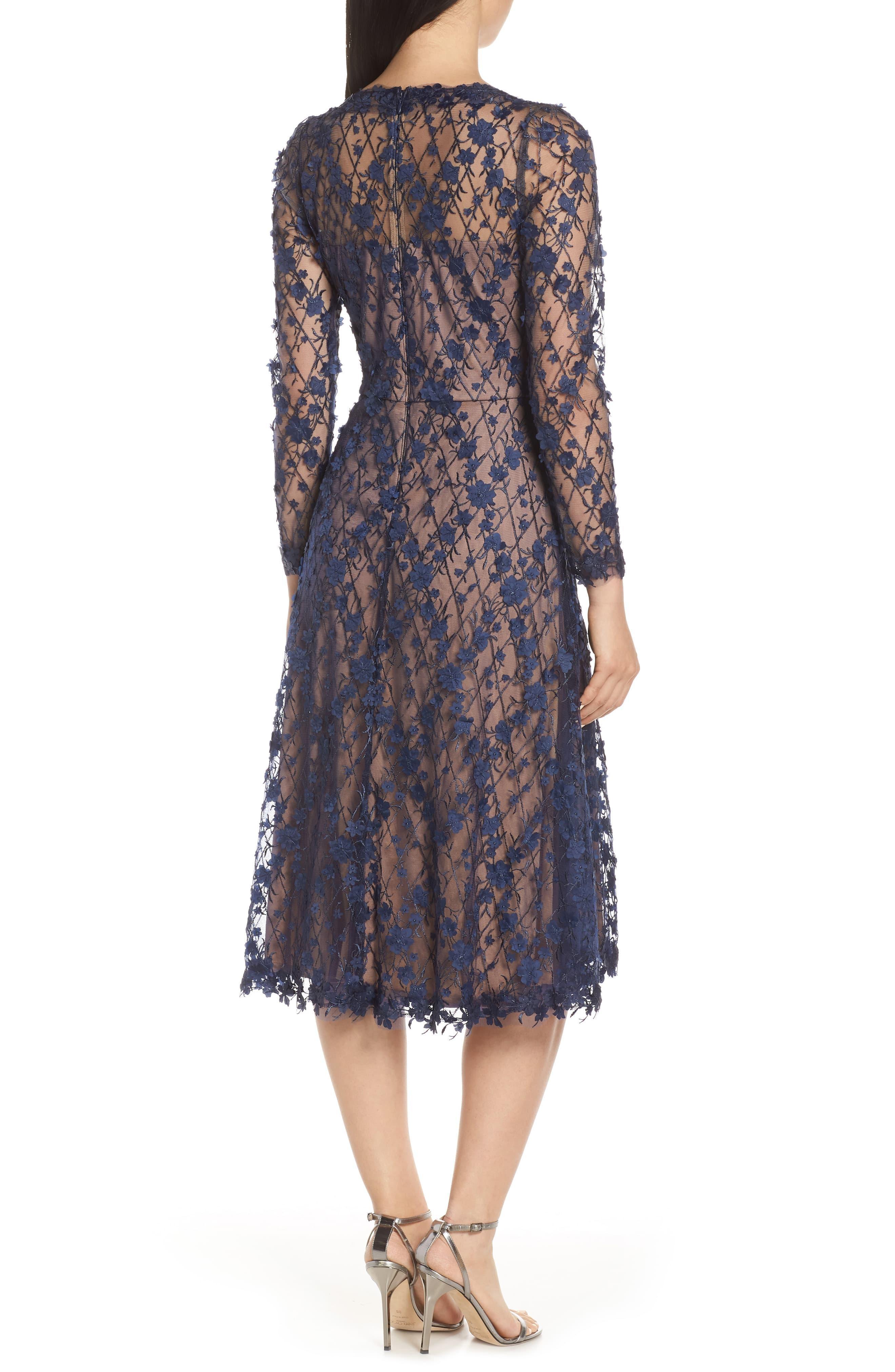 3d Flowers Lace Dress