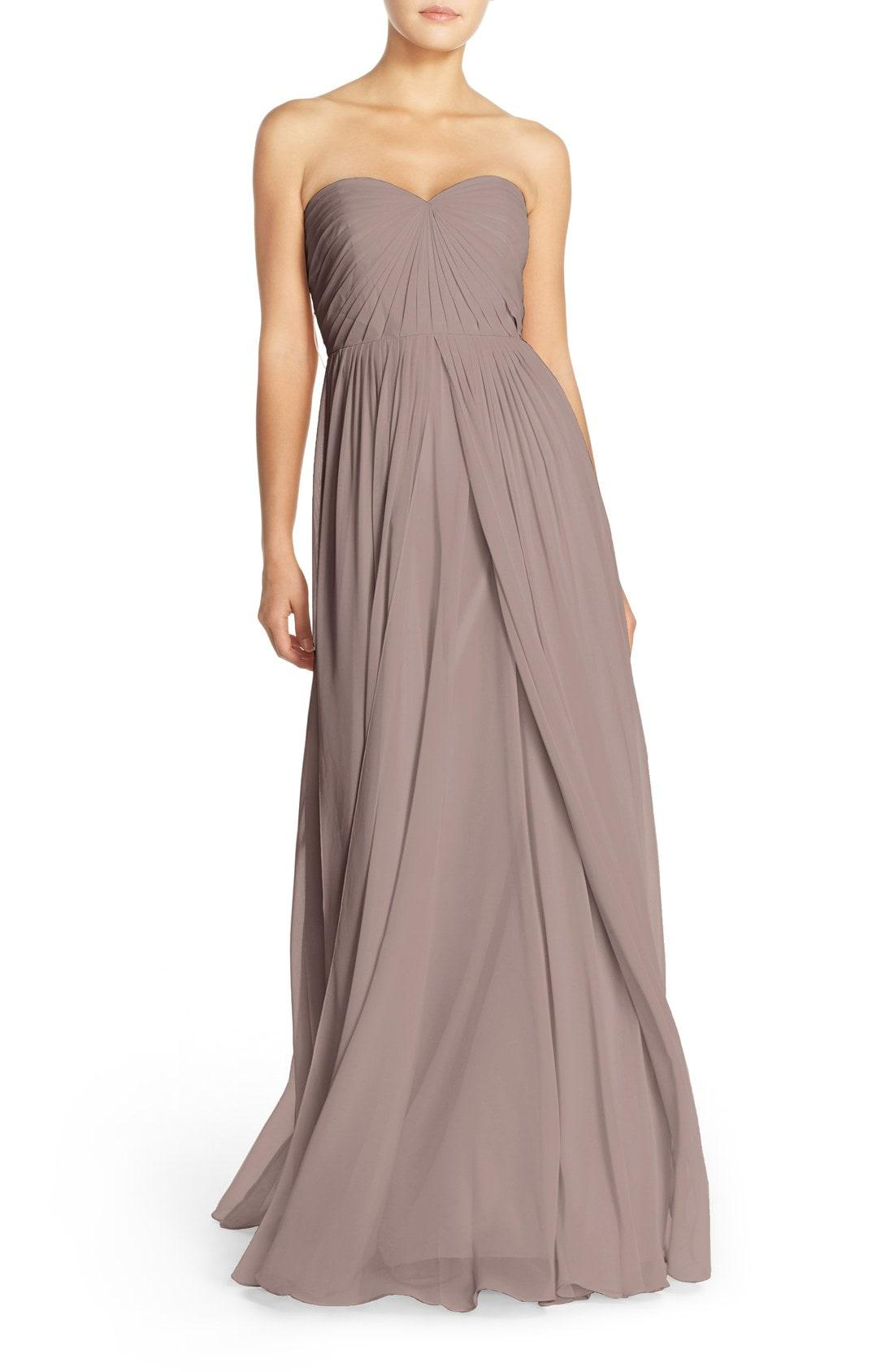e0a735ac1912 Lyst - Jenny Yoo Mira Convertible Strapless Chiffon Gown in Brown