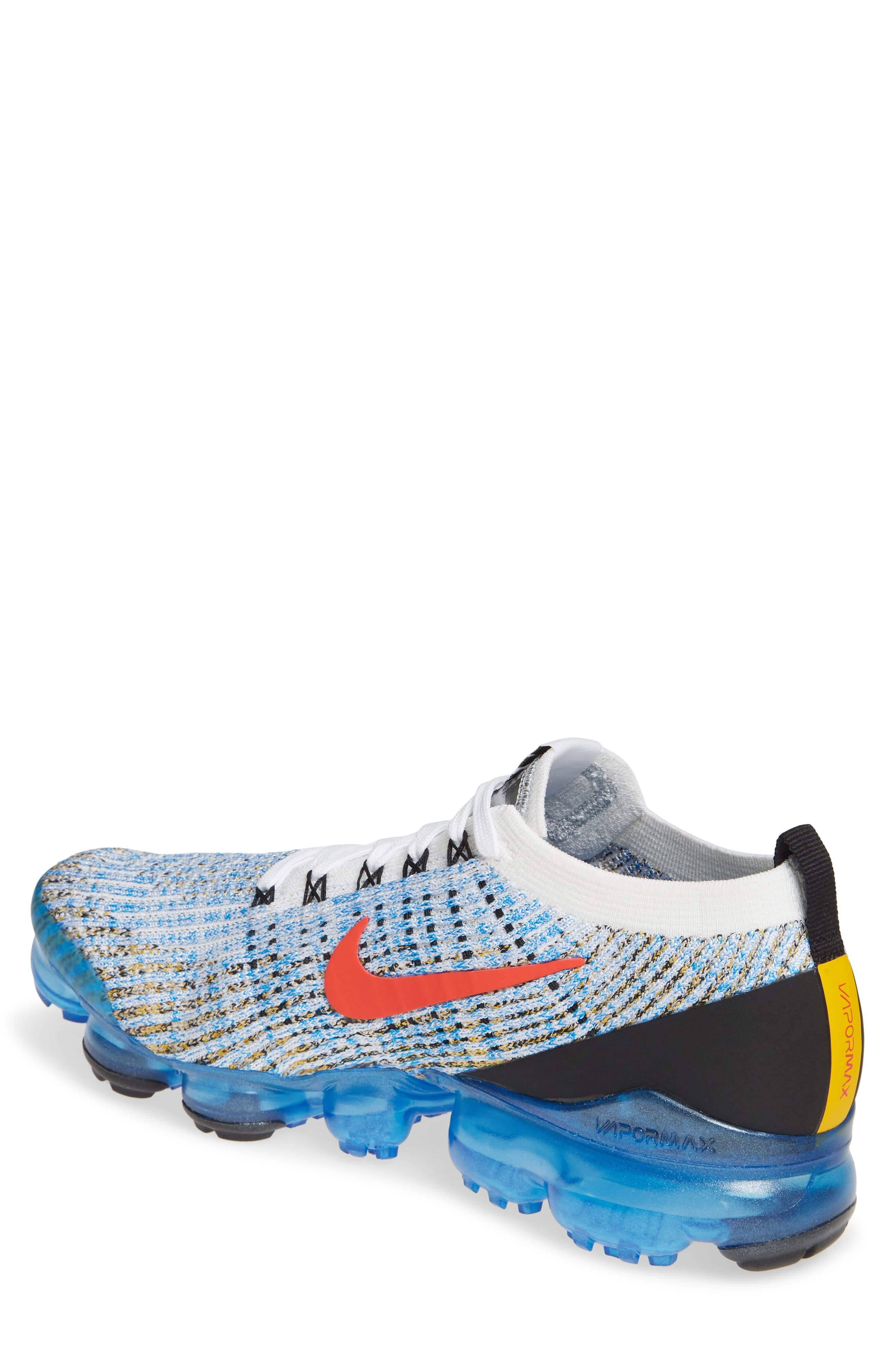 cueva El hotel erupción  Nike Synthetic Air Vapormax Flyknit 3 in White (Blue) for Men - Save 60% -  Lyst