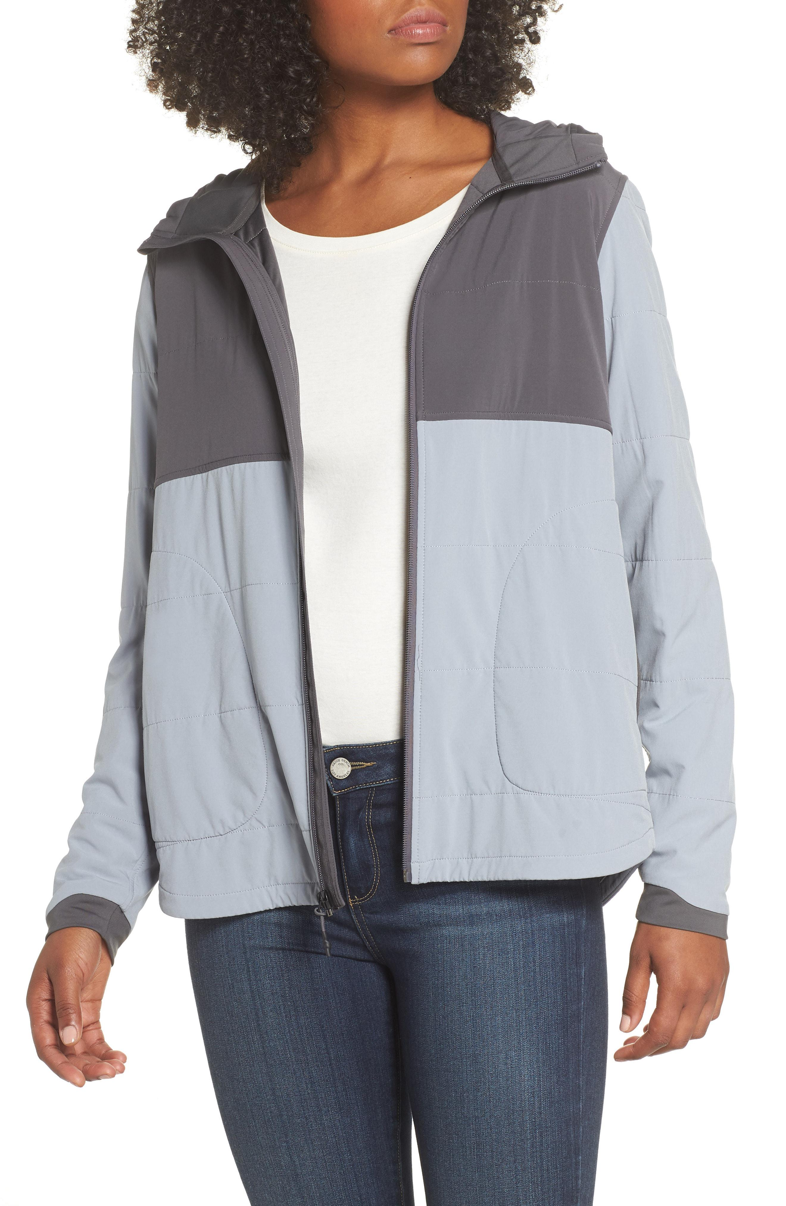 The North Face Mountain Peaks Insulated Hooded Jacket in Gray - Lyst 2e6e81cd6