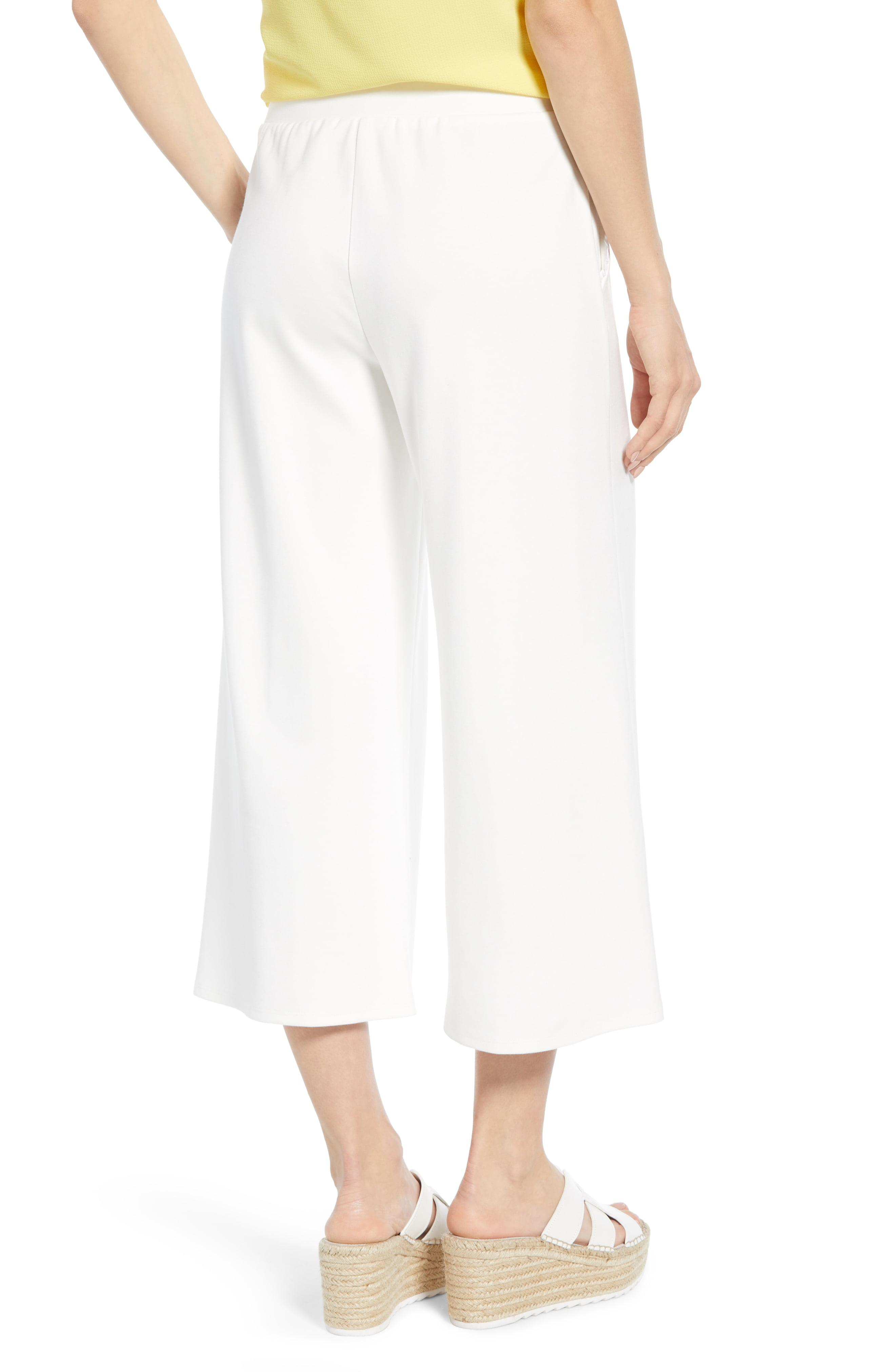 28952226efe1f8 Gibson - White X Living In Yellow Wide Leg Crop Pants - Lyst. View  fullscreen