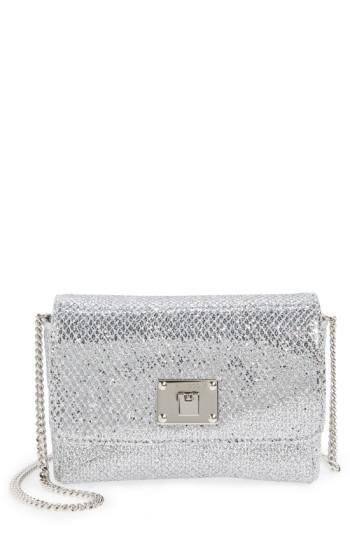 7690c5ccd1a Lyst - Jimmy Choo Ruby Metallic Glitter Clutch Shoulder Bag in Metallic