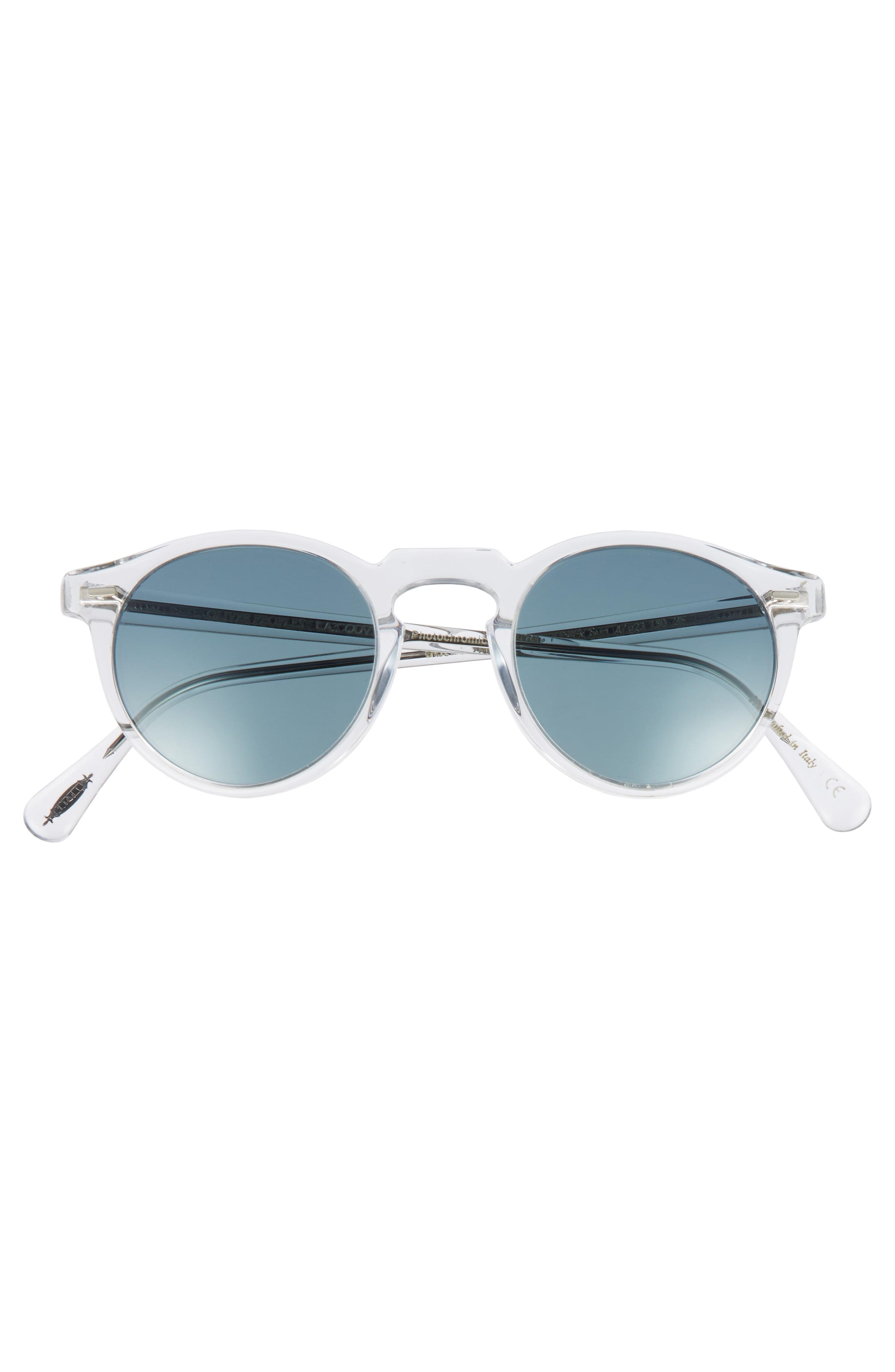 a217e08147b Oliver Peoples - Blue Gregory Peck 47mm Round Sunglasses - Crystal  Indigo  for Men -. View fullscreen