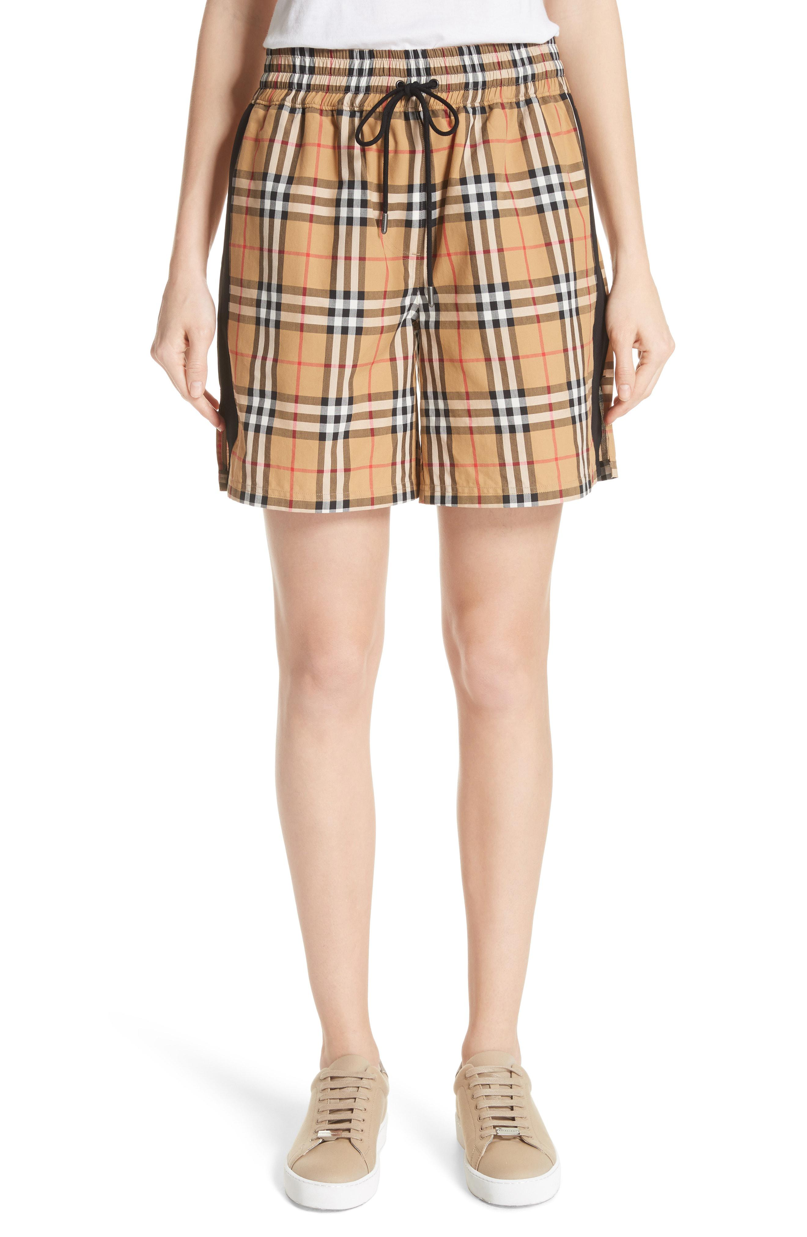Burberry Dovemoore Cotton Shorts in Yellow - Lyst 95bc252ea9