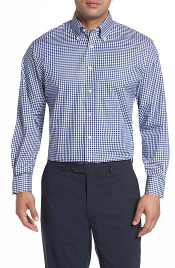 Lyst nordstrom classic fit non iron gingham dress shirt for Nordstrom custom dress shirts