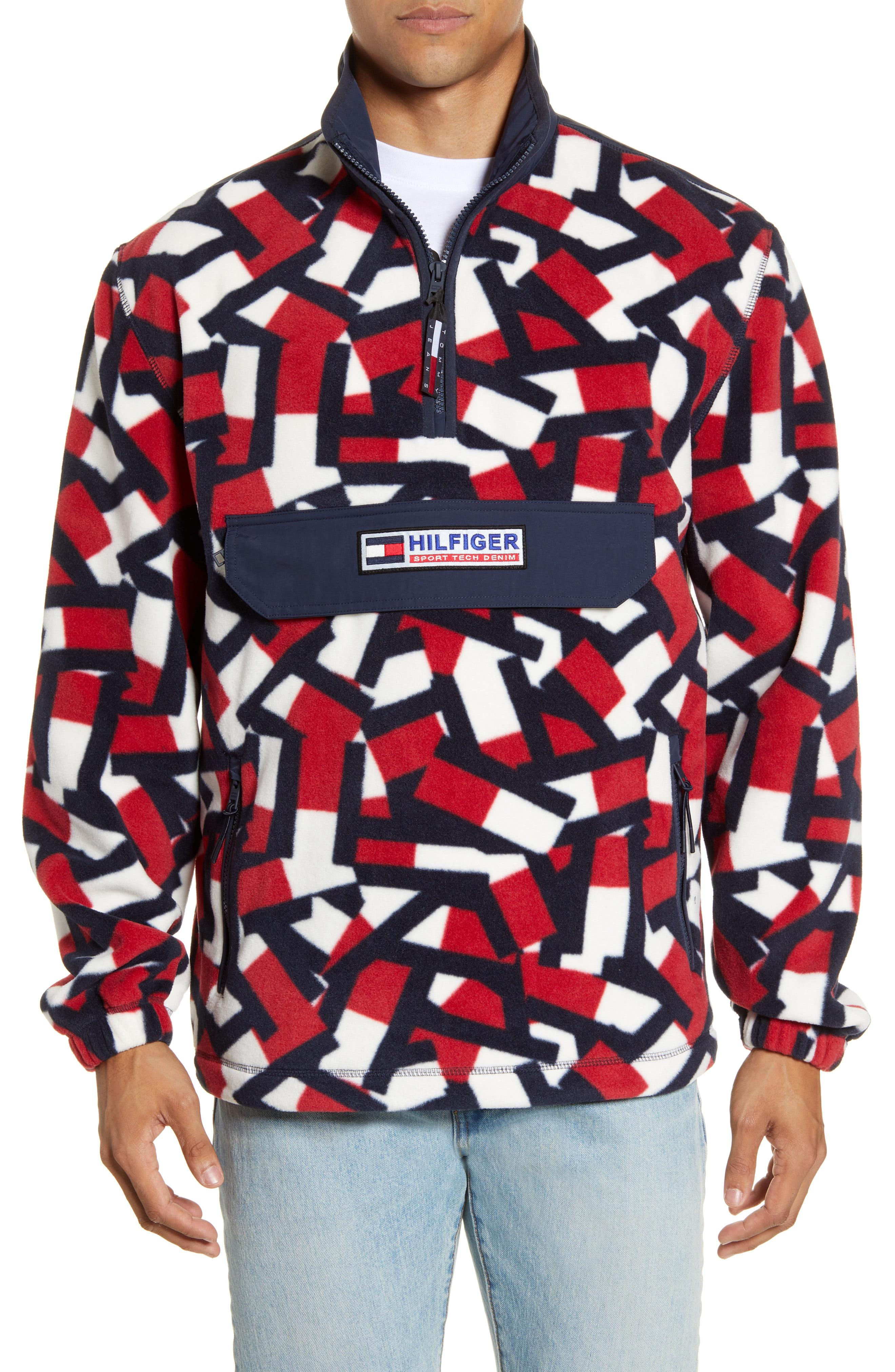 Tommy Hilfiger Denim Men/'s Navy Blazer Sport Tech Logo Print Fleece Sweatpants