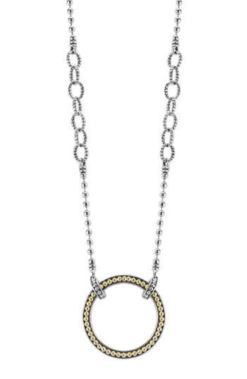 Lyst Lagos Enso Pendant Necklace In Metallic