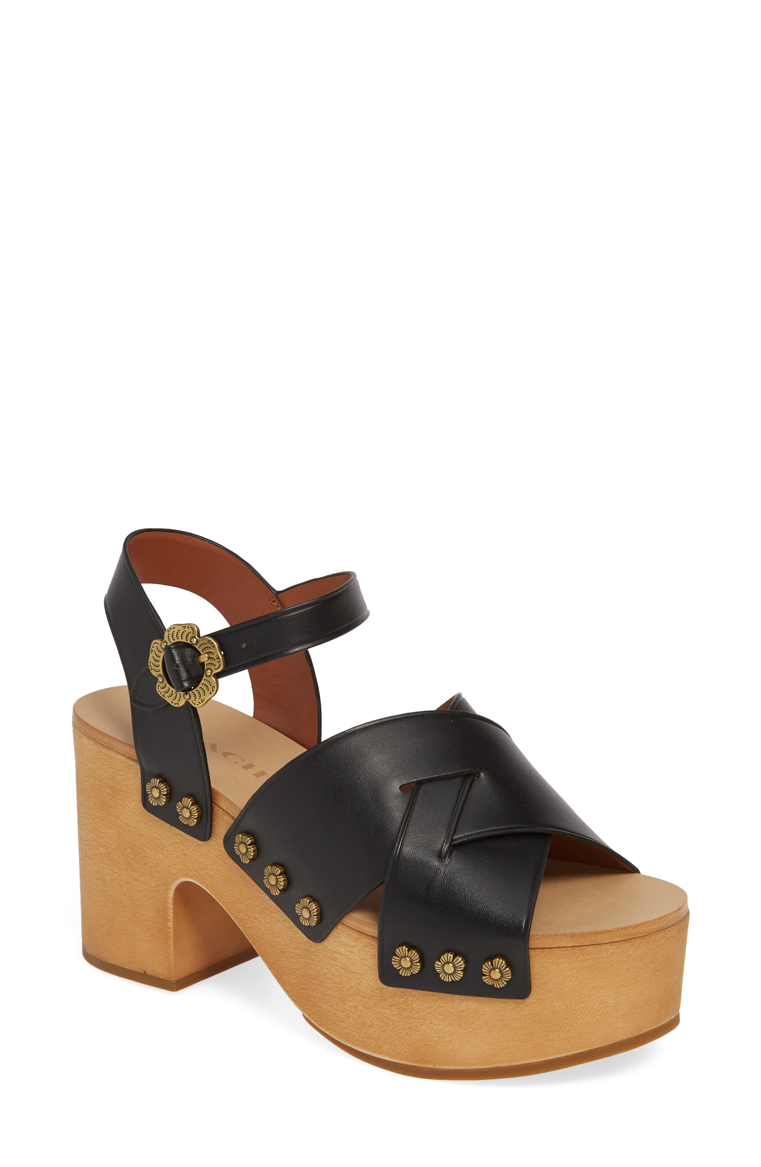 COACH Nessa Clog Platform Sandal in