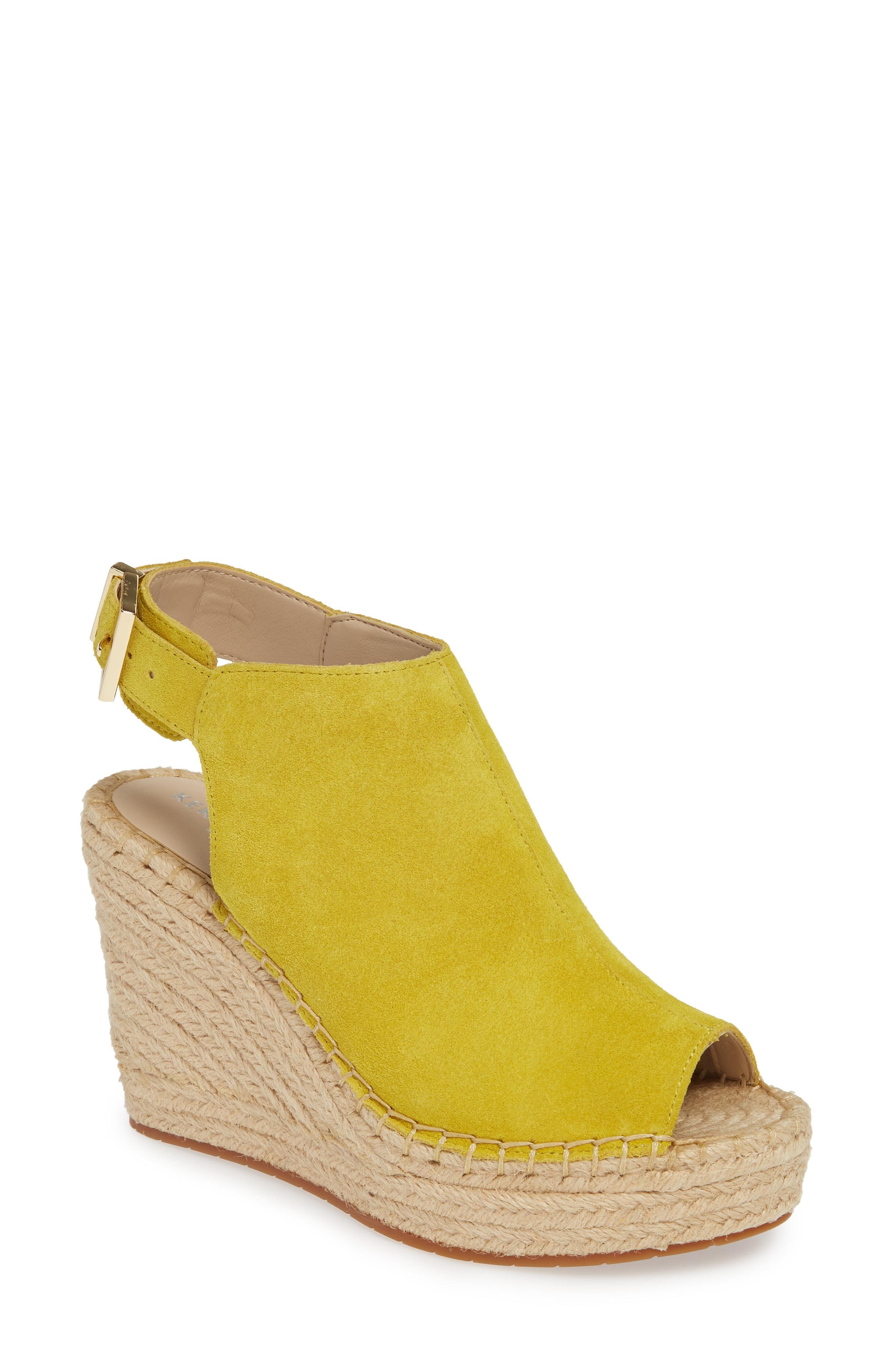 613b7854fcc4 Lyst - Kenneth Cole  olivia  Espadrille Wedge Sandal in Yellow