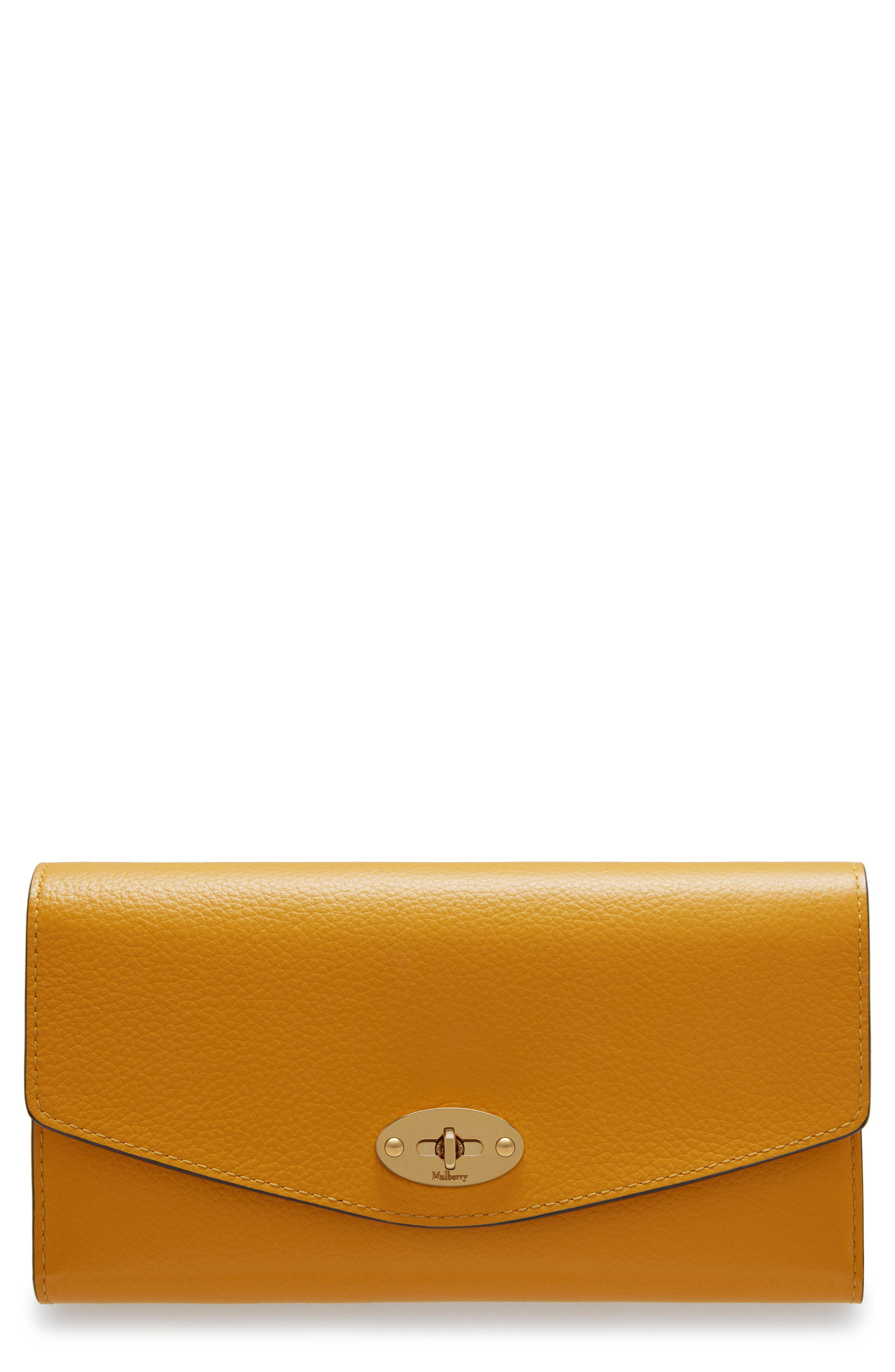 ae07343631 Mulberry - Yellow Darley Continental Leather Wallet - Lyst. View fullscreen