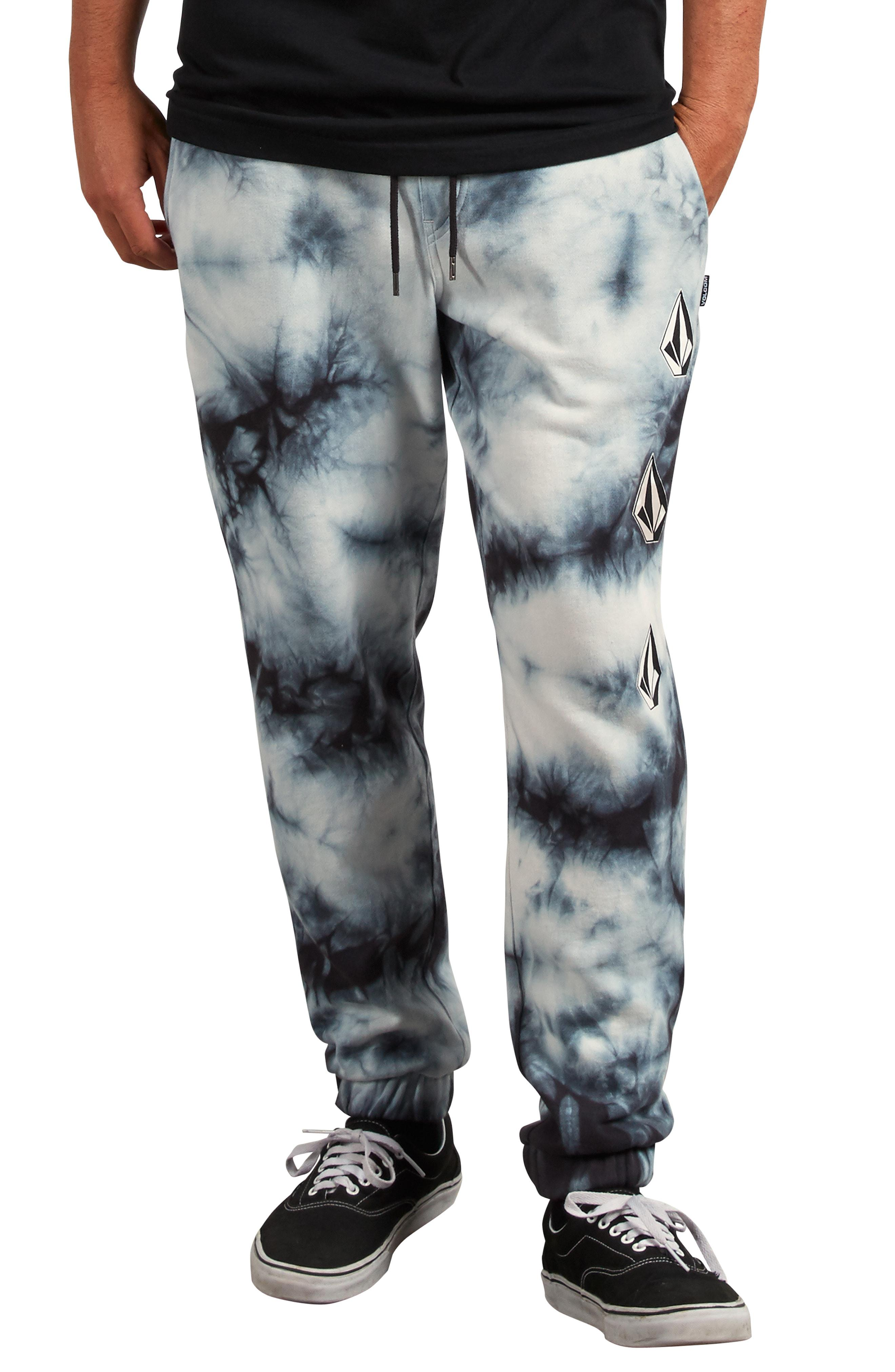 "Men/'s Joggers Sweat Pants Volcom /""Deadly Stones/"" Fleece Sweatpants Black"
