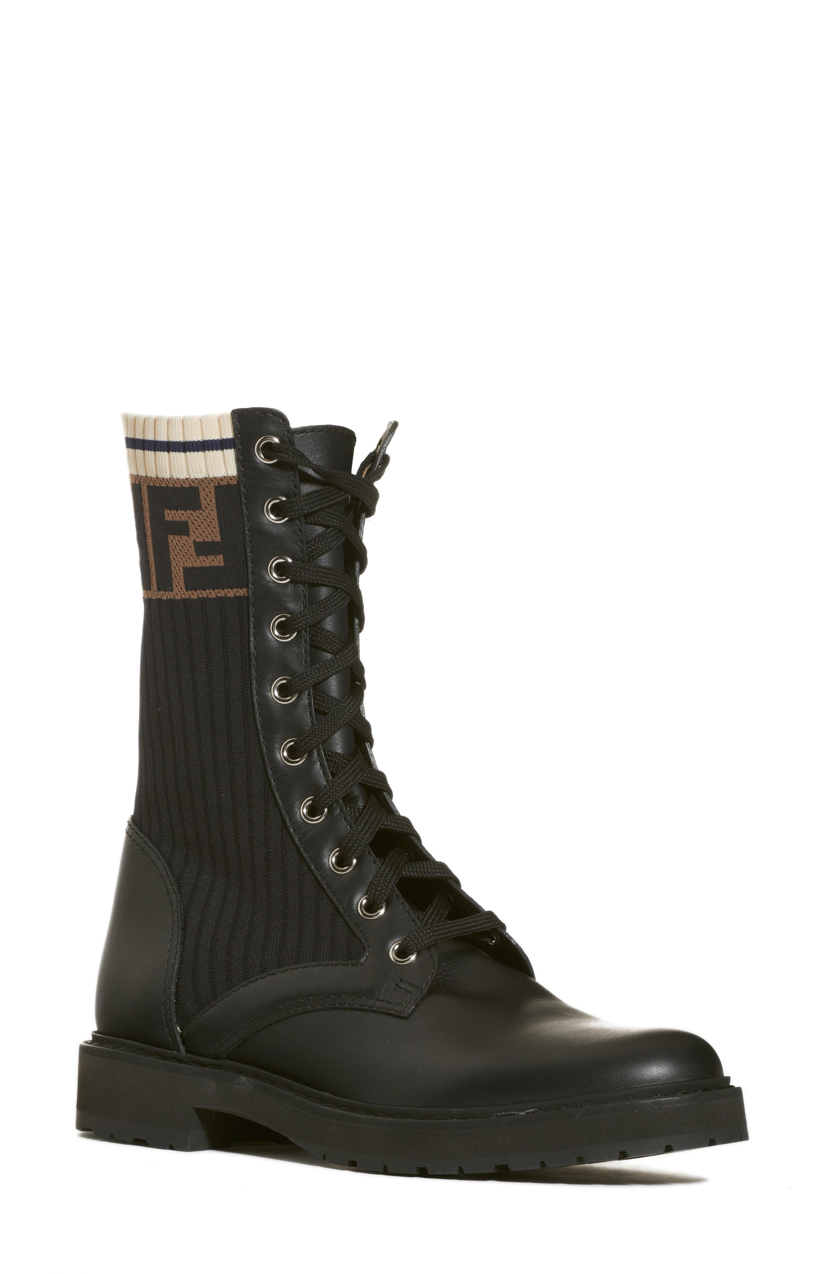4cedb61e4b7 Fendi. Women s Rockoko Chelsea Sock Combat Boot