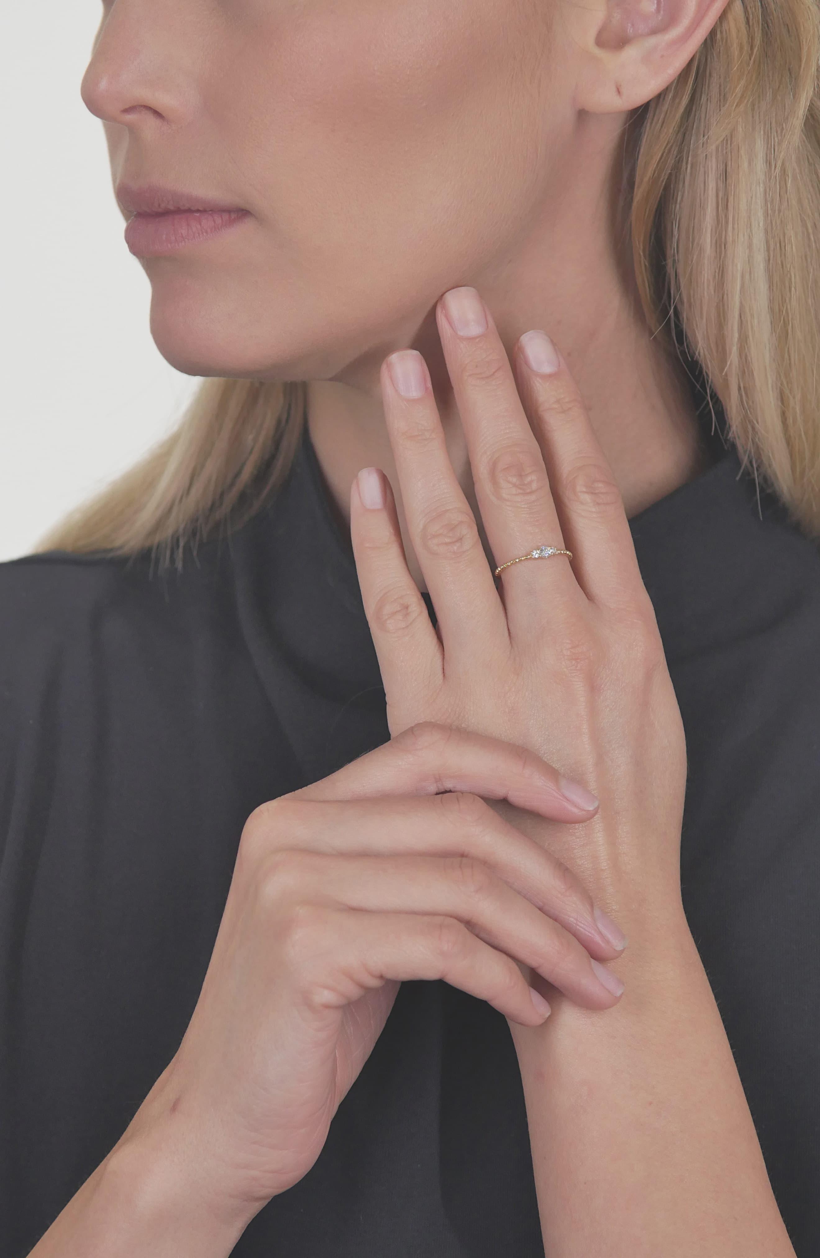 Bony Levy Diamond Gold Bead Ring Nordstrom Exclusive In Yellow Gold Diamond Metallic Lyst
