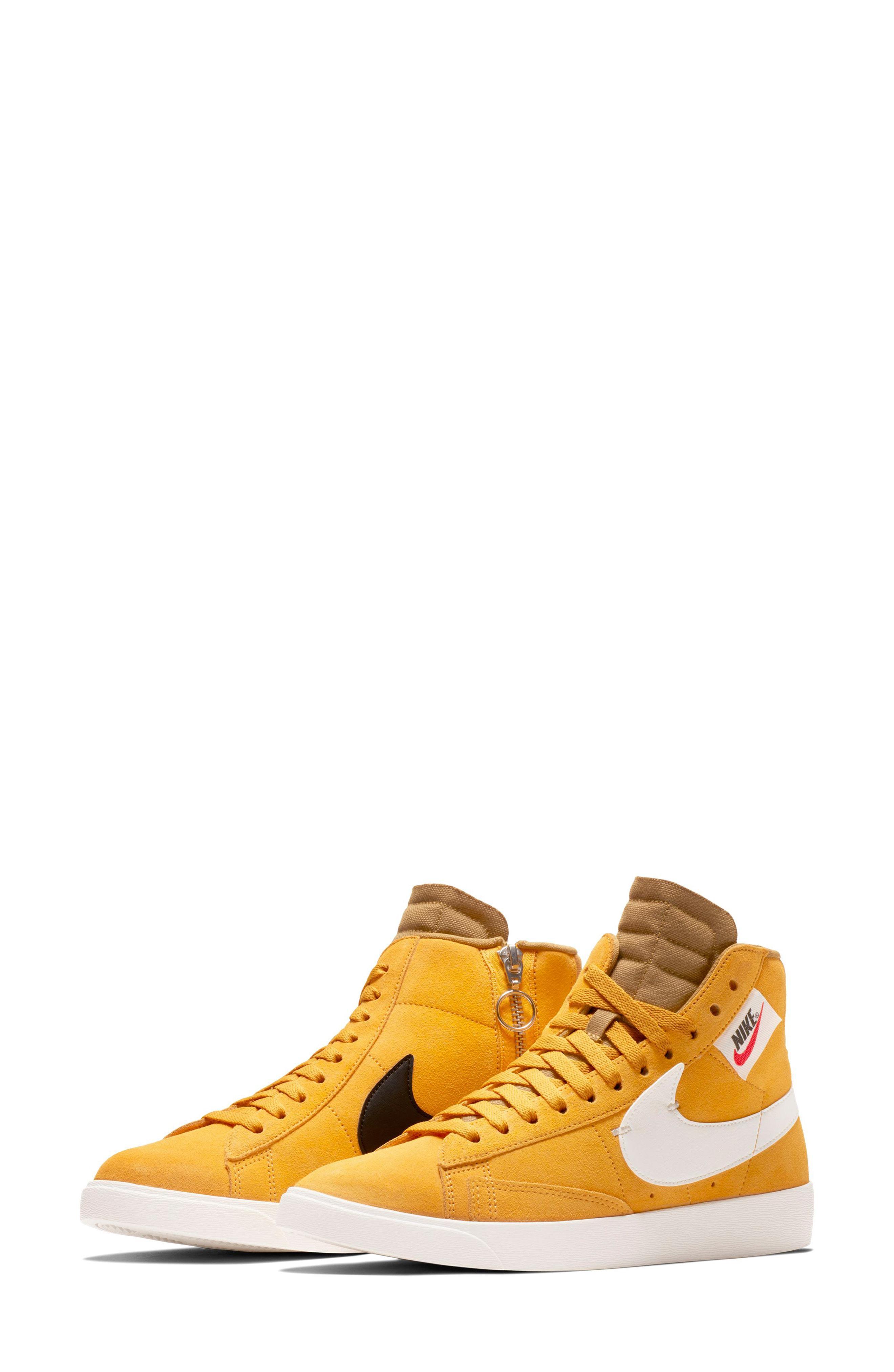 huge discount 90b6c 3ef21 Nike Blazer Mid Rebel Sneaker in Yellow - Lyst