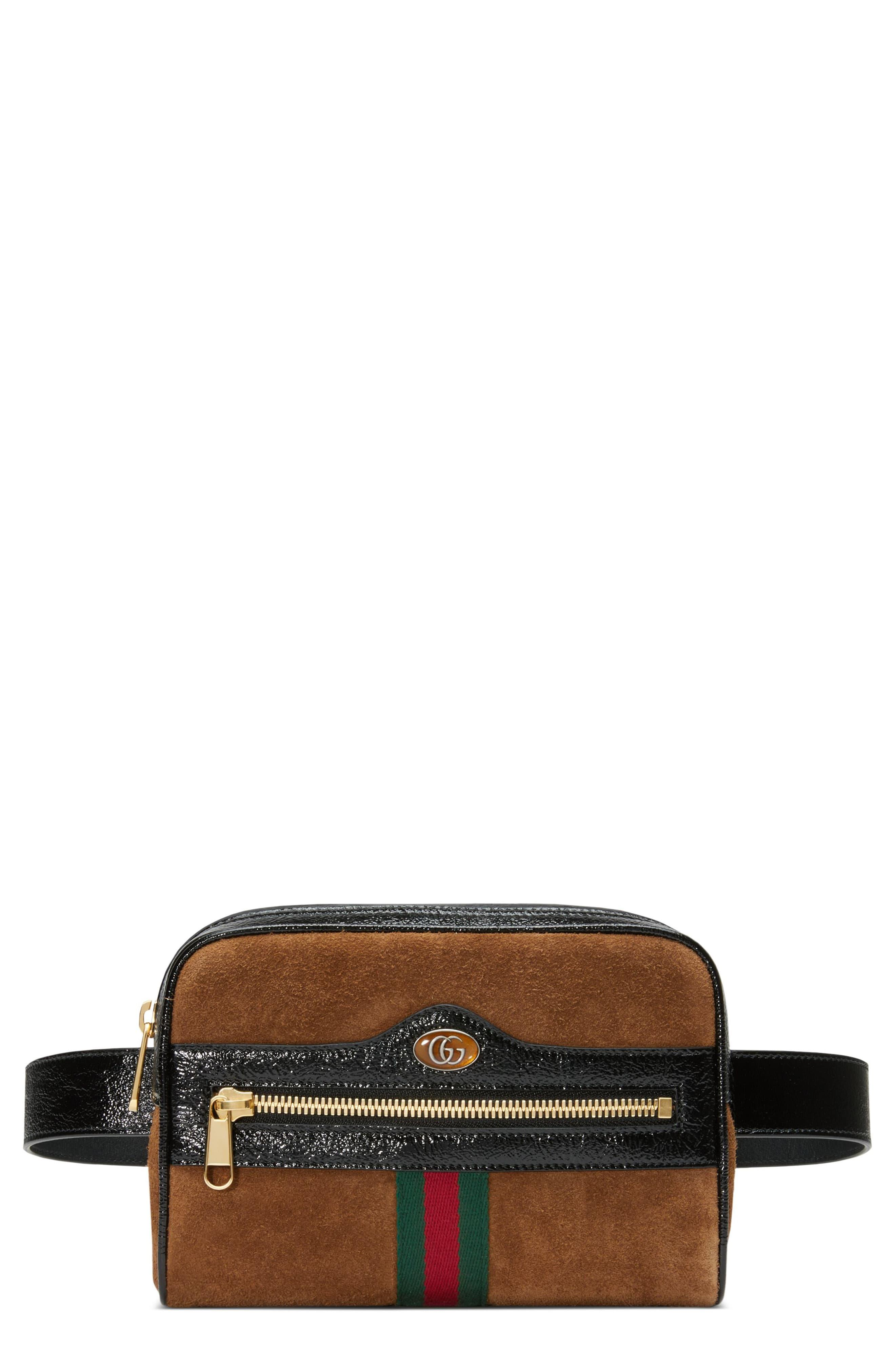 2951f996f90d2f Gucci Ophidia Small Suede Belt Bag in Red - Lyst