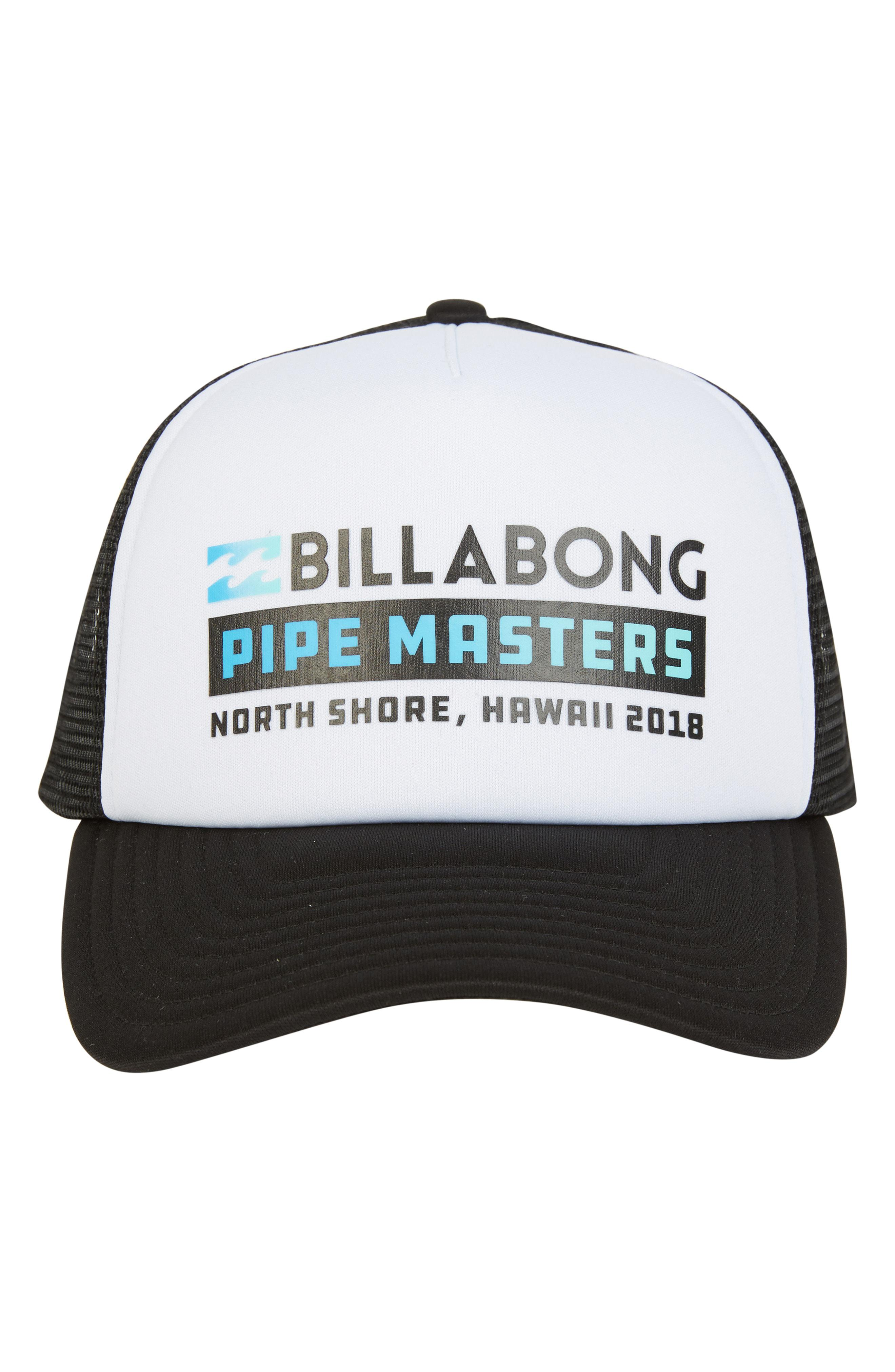 Lyst - Billabong Pipe Masters Trucker Hat in White for Men eb6f72e20453