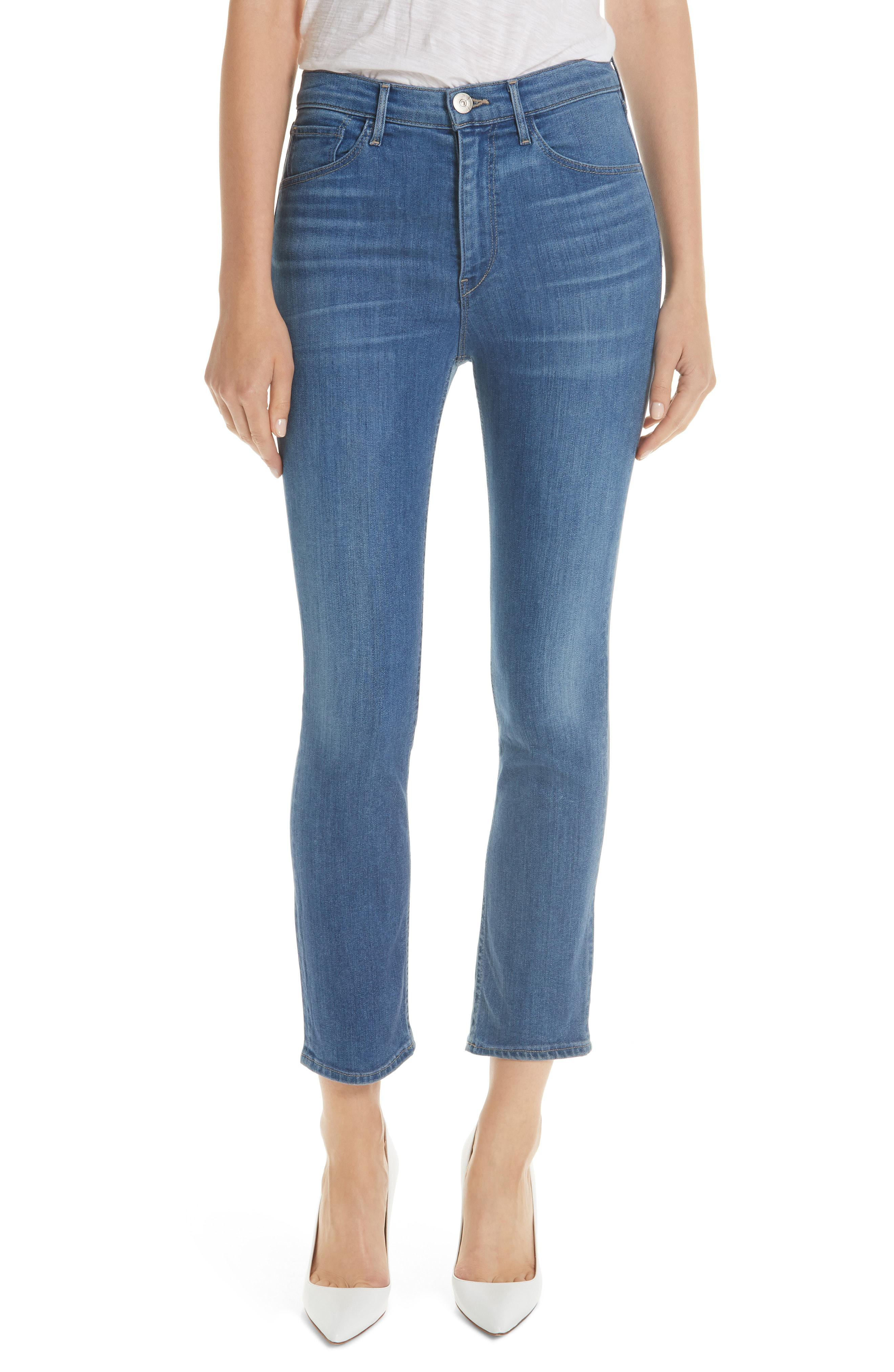 19fc7dae9 Lyst - 3X1 W4 Colette Crop Skinny Jeans in Blue