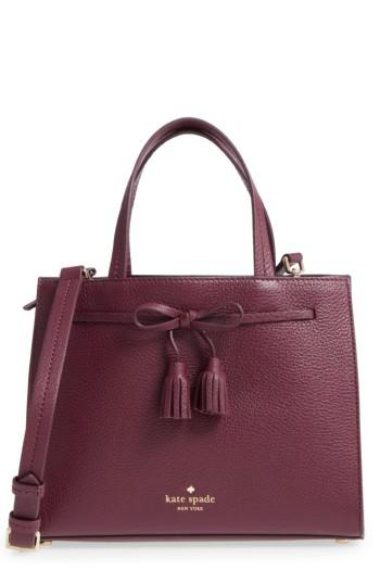 b8ad974957ce Lyst - Kate Spade Hayes Street Small Isobel Leather Satchel - Purple ...